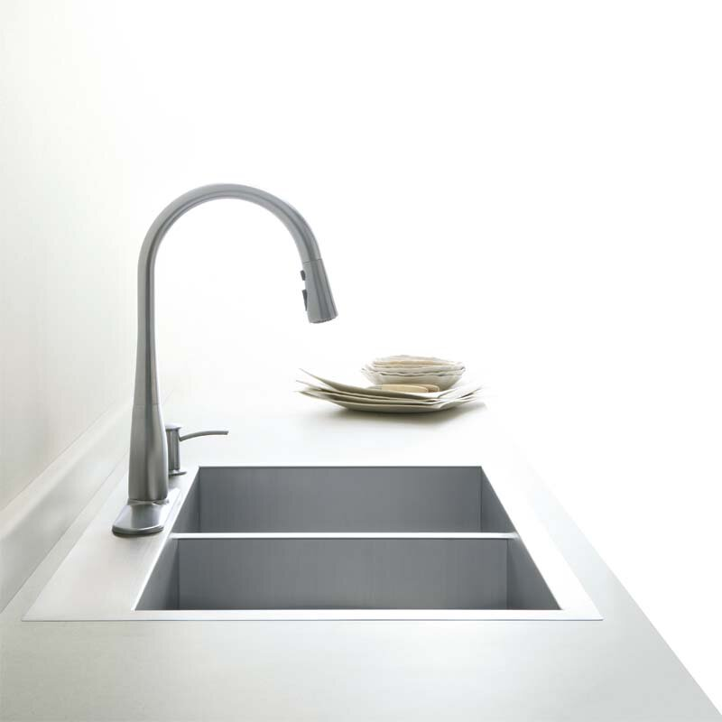 Large Double Sink Kitchen : Home Improvement Kitchen Fixtures ... Undermount Kitchen Sinks Kohler ...