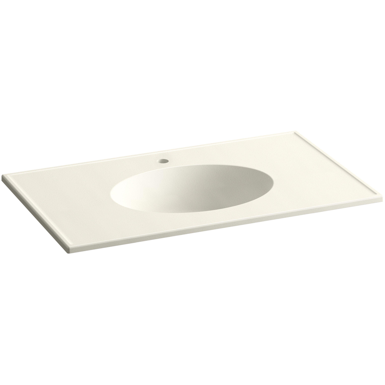 kohler ceramic impressions 37 oval vanity top bathroom sink with single faucet hole reviews. Black Bedroom Furniture Sets. Home Design Ideas