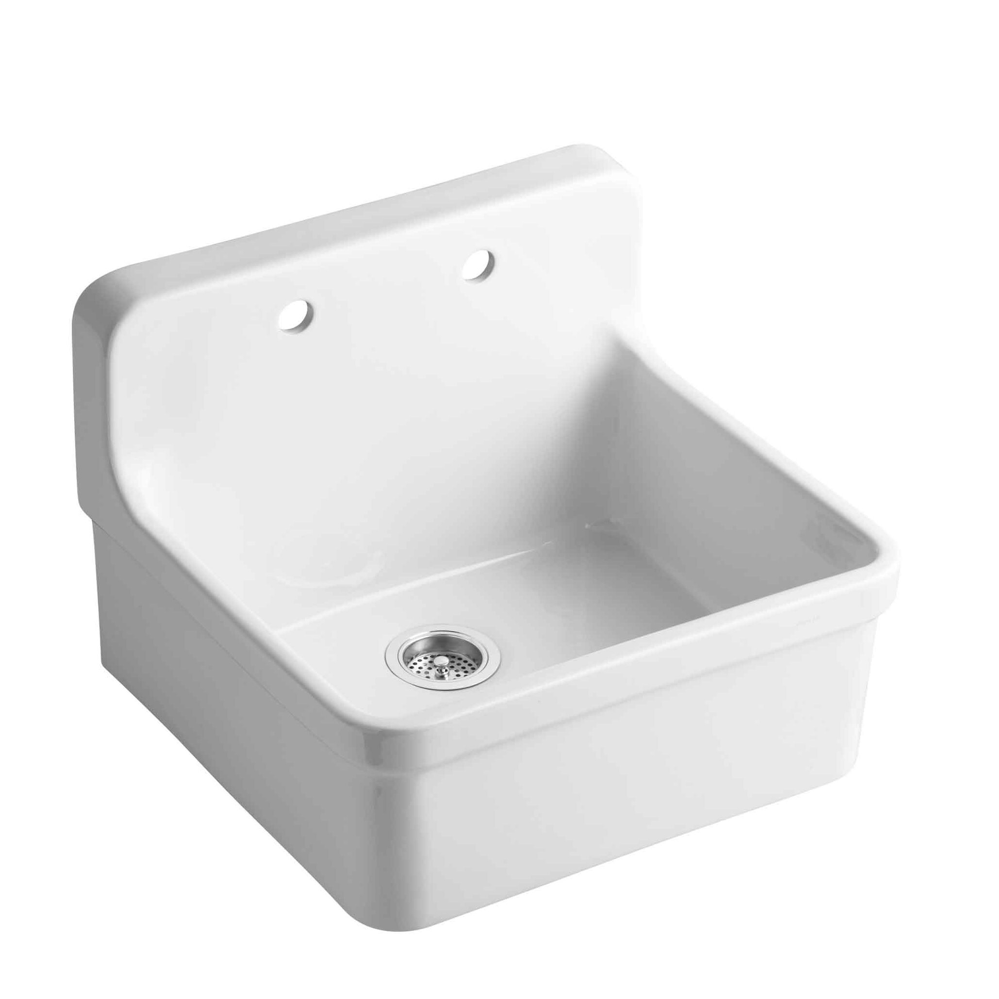 "Top Mount Sink Kitchen: Kohler Gilford 24"" X 22"" X 9-1/2"" Wall-Mount/Top-Mount"