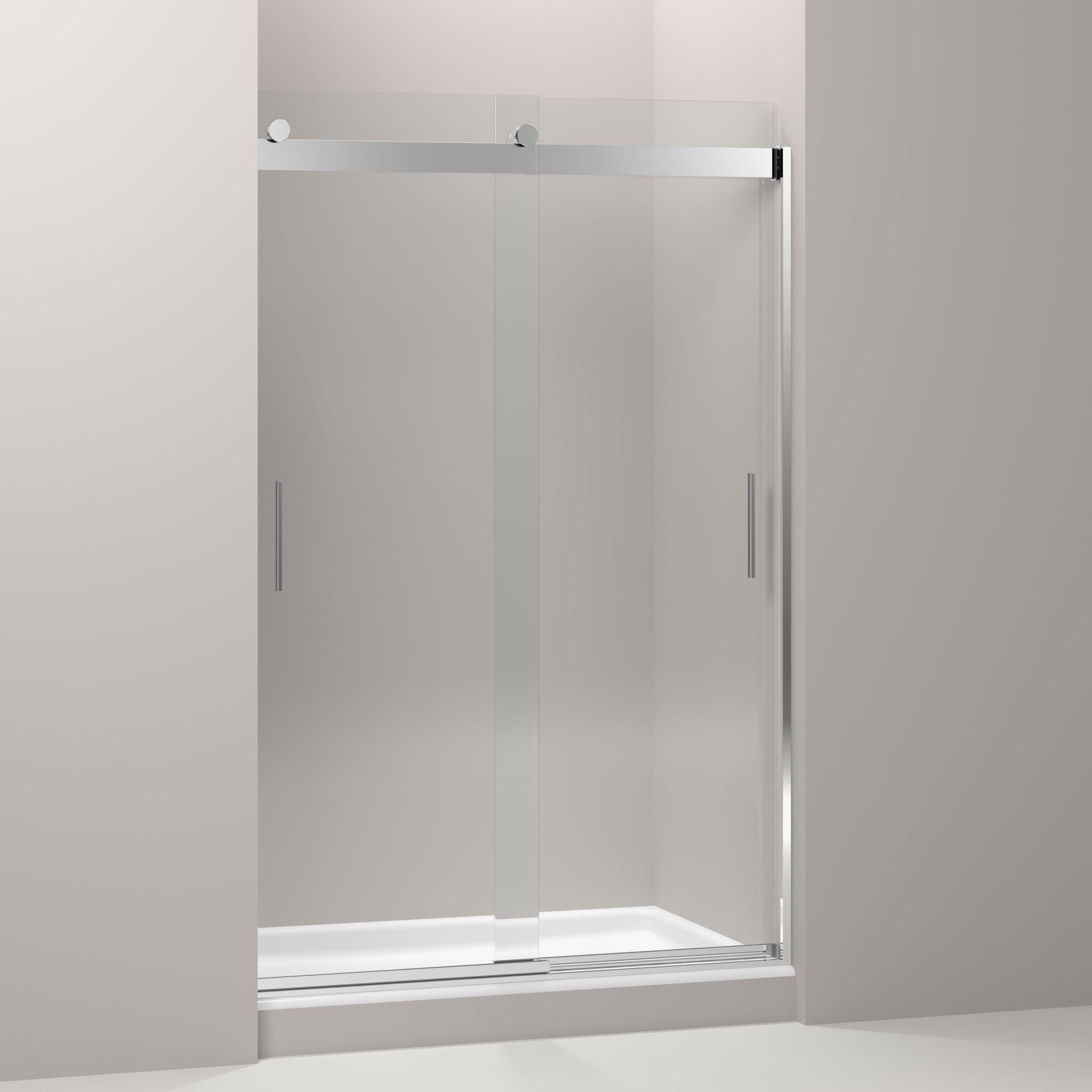 """Kohler Sterling Sliding Shower Doors: Kohler Levity 74"""" X 47.63"""" Sliding Shower Door With Blade"""