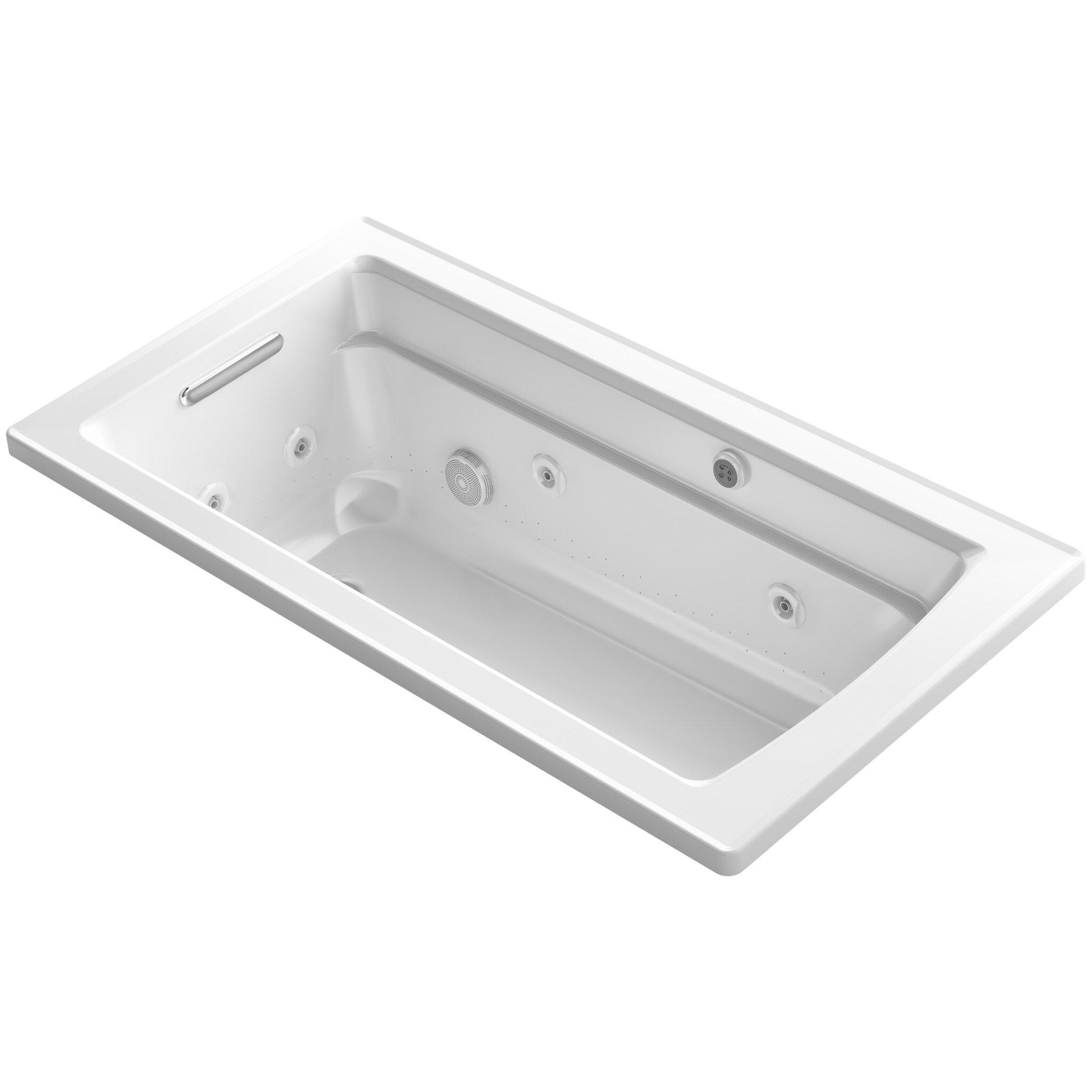 """Kohler Archer 60"""" X 32"""" Air / Whirlpool Bathtub"""