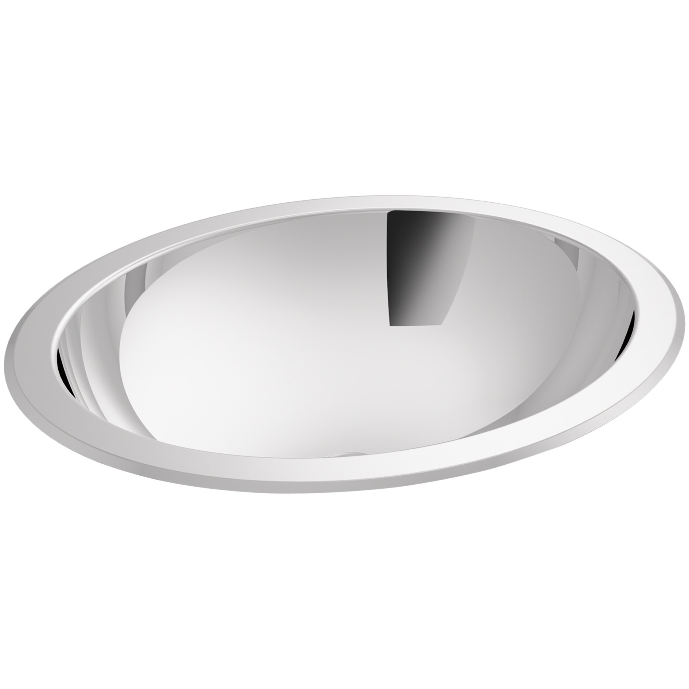 Kohler Bachata Drop In Undermount Bathroom Sink With Mirror Finish And