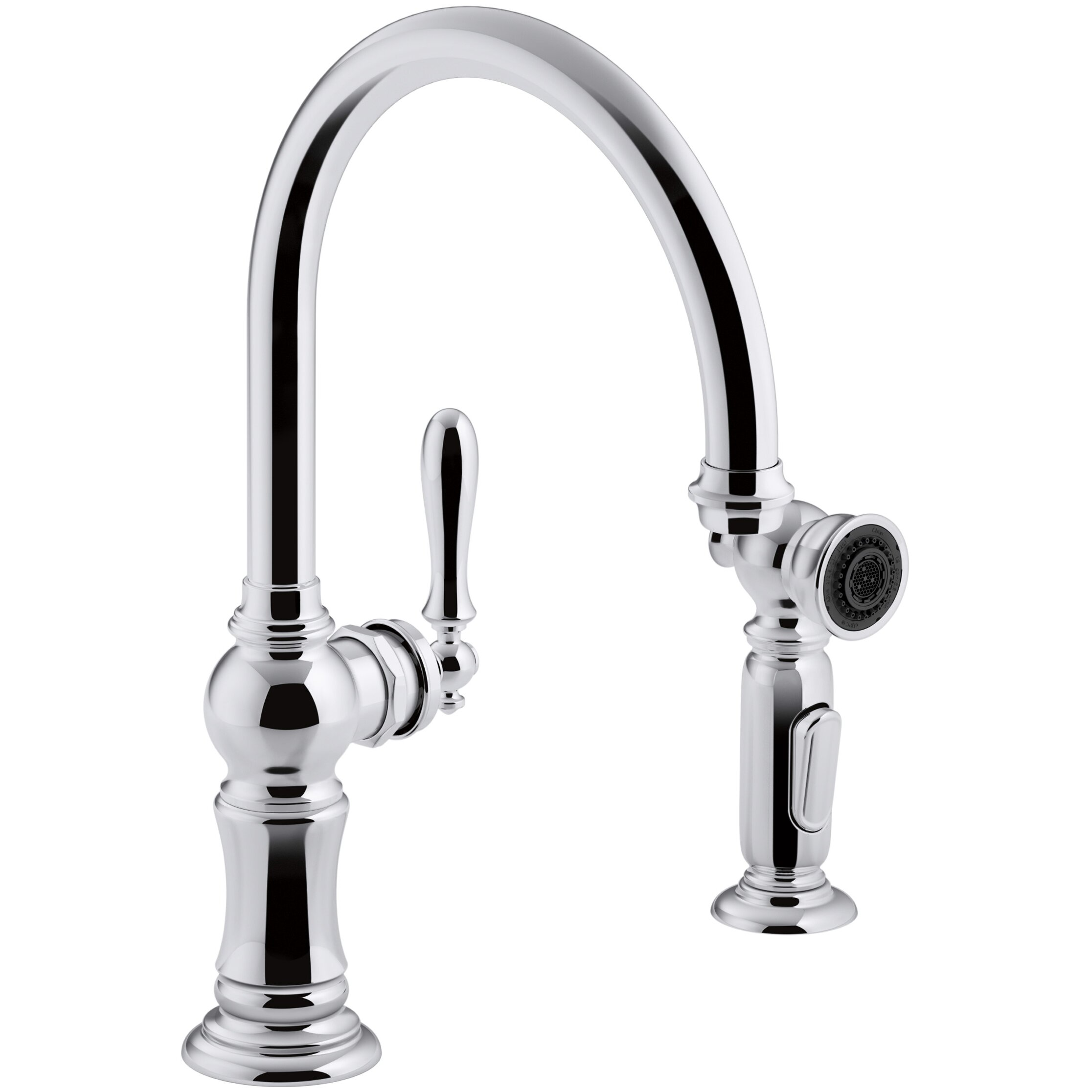 Kohler Faucet Reviews : Kohler Artifacts 2-Hole Kitchen Sink Faucet with Swing Spout & Reviews ...