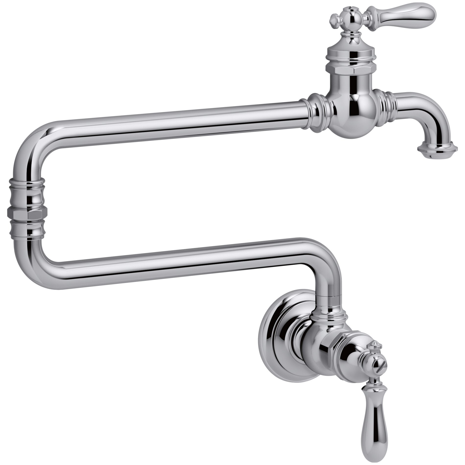 Pot Sink Faucet : ... Hole Wall-Mount Pot Filler Kitchen Sink Faucet with 22