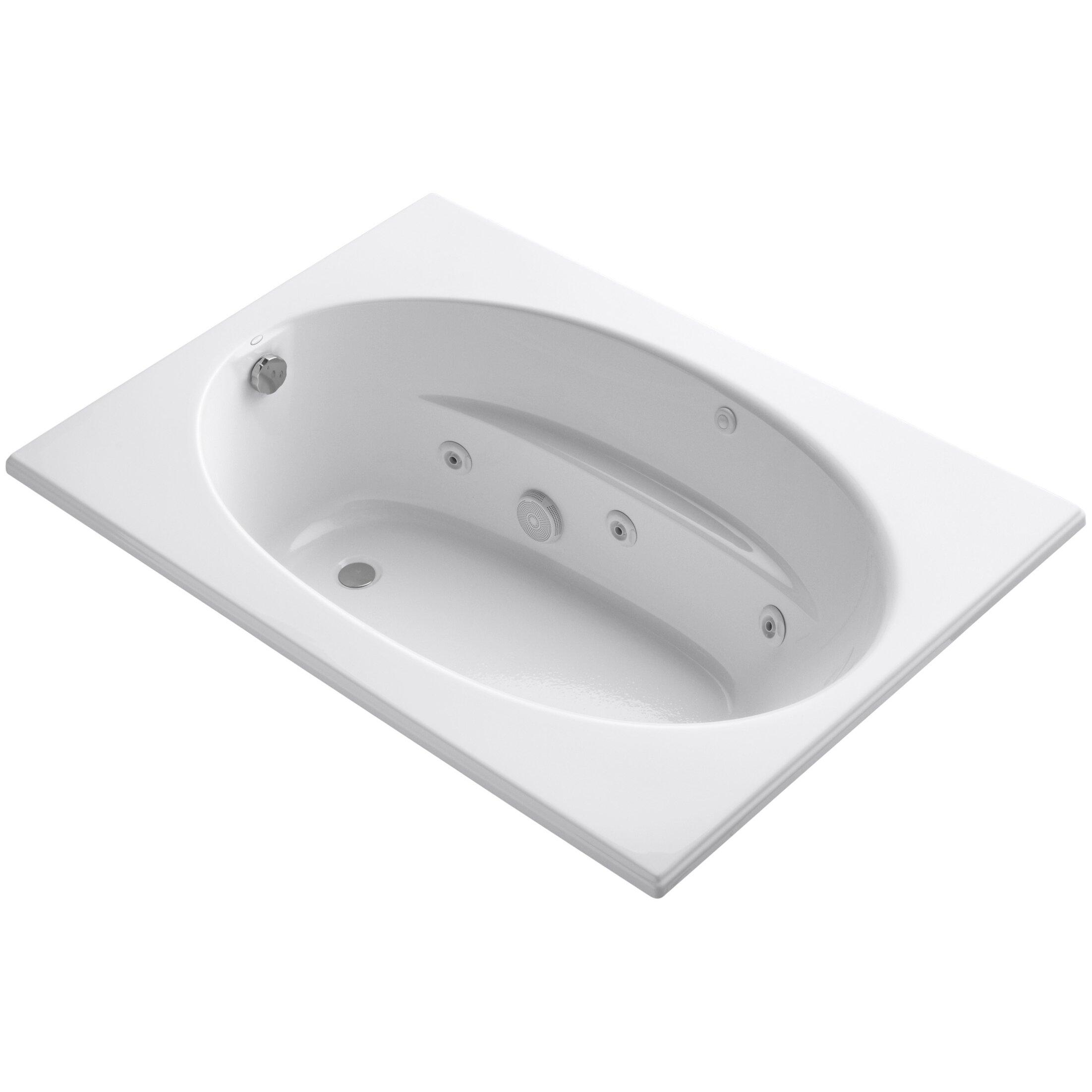 60 X 42 Bathtub Kohler Windward 60 Quot X 42 Quot Whirlpool Bathtub Wayfair