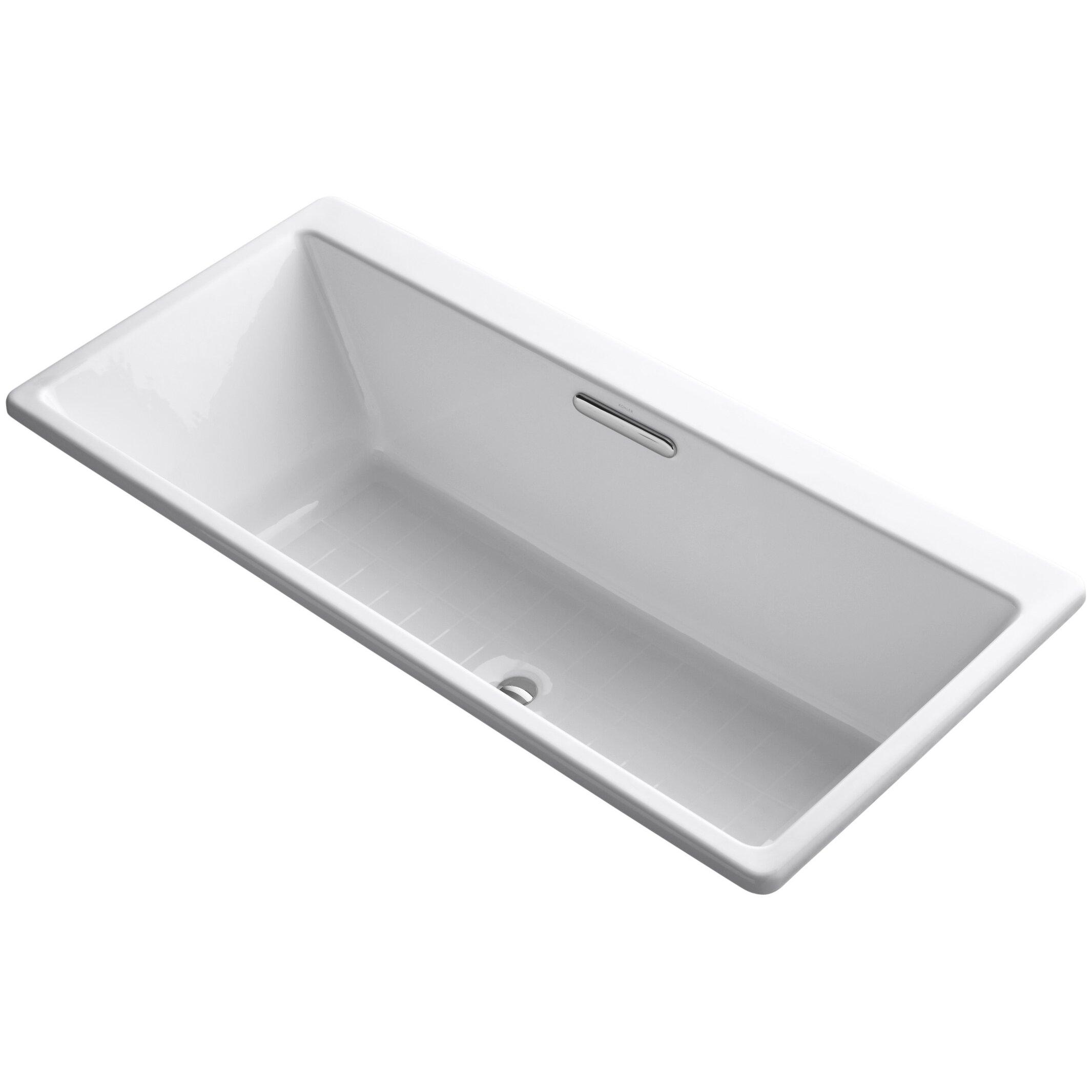 kohler reve 67 quot x 36 quot soaking bathtub wayfair