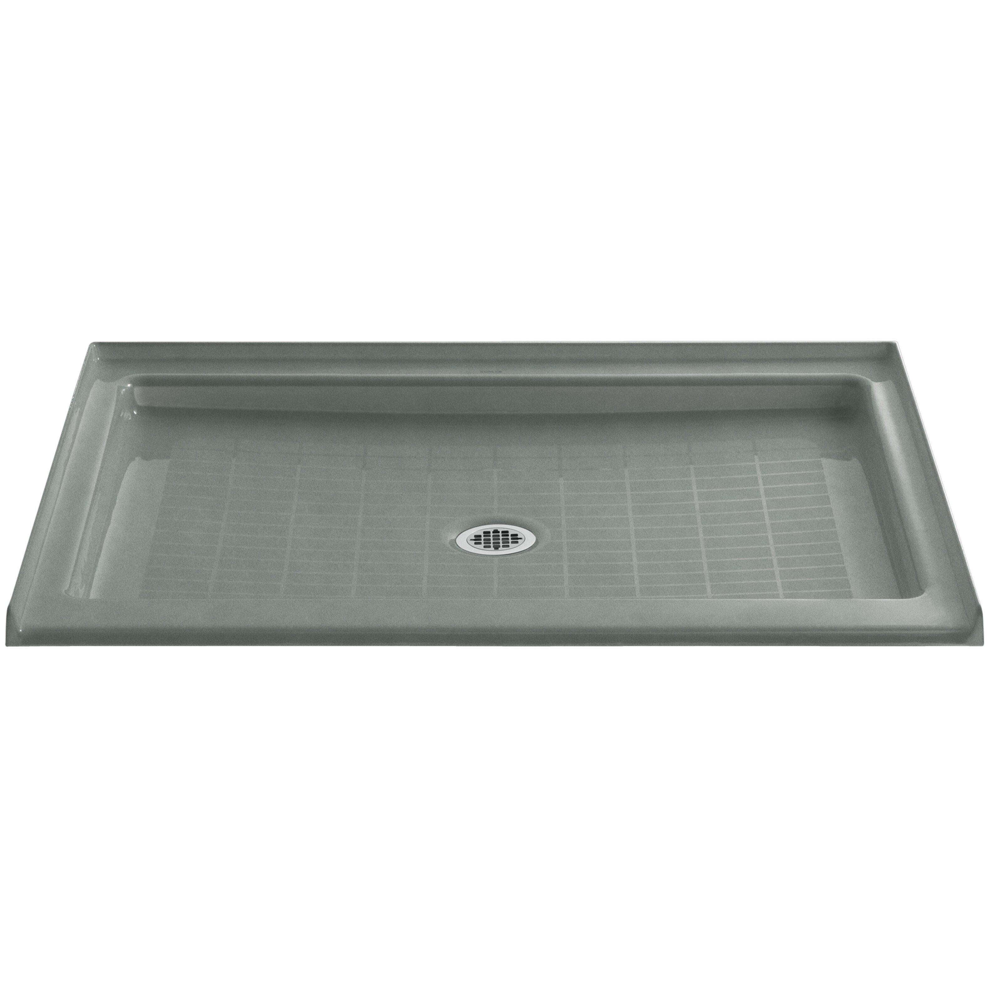 Kohler purist 48 x 36 single threshold center drain shower base reviews wayfair for Fenetre 36 x 48