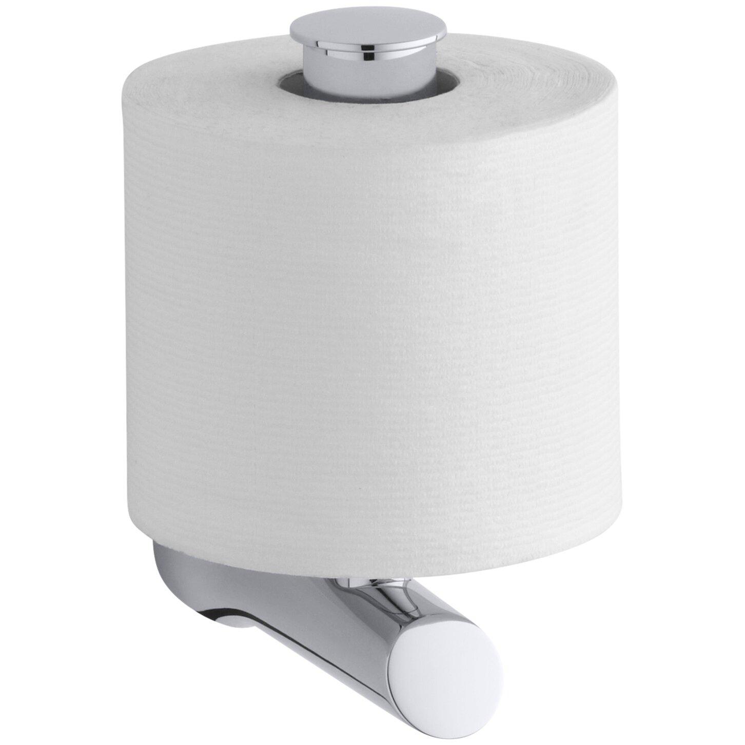 kohler toobi vertical toilet tissue holder reviews wayfair. Black Bedroom Furniture Sets. Home Design Ideas