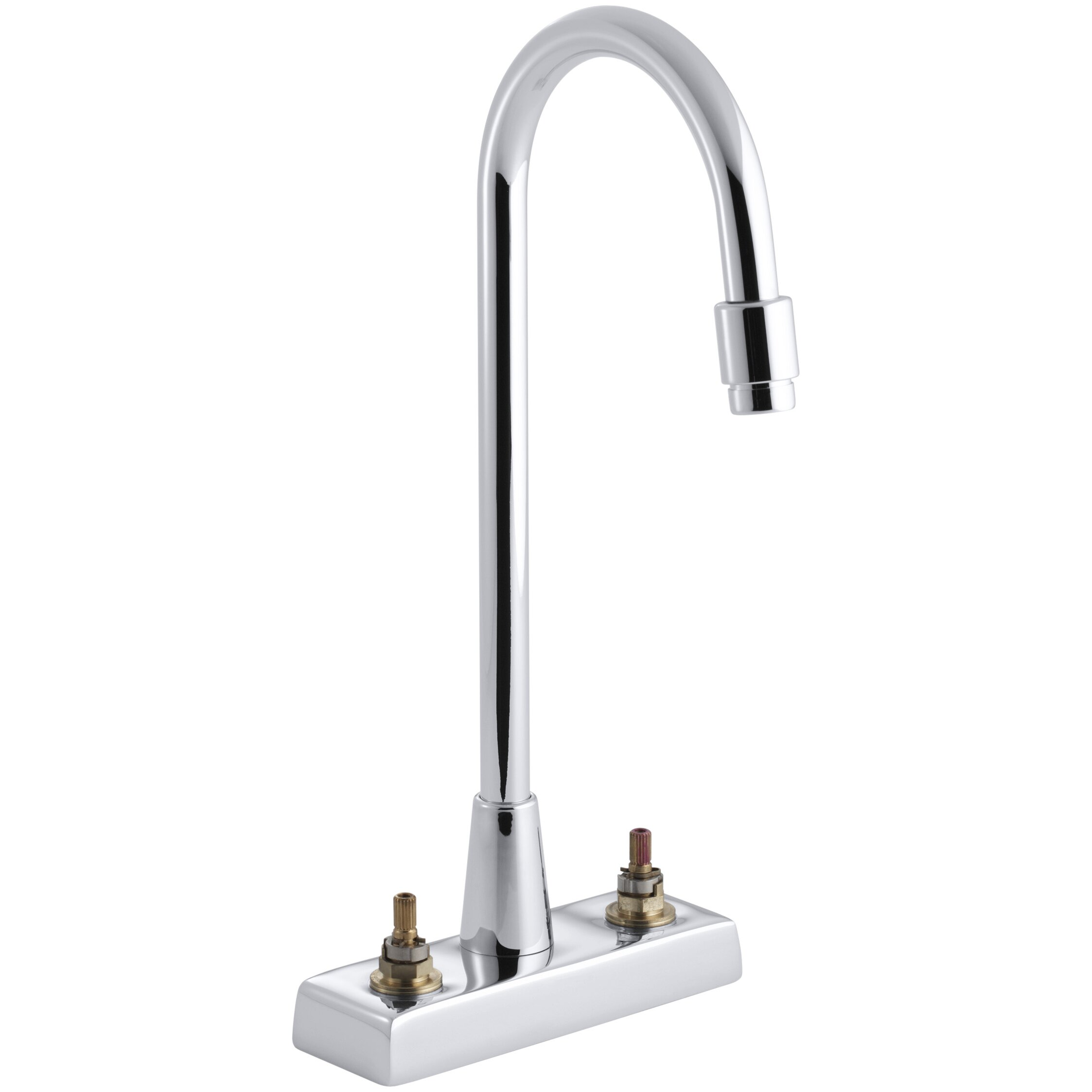 kohler triton centerset commercial bathroom sink faucet with gooseneck spout and vandal. Black Bedroom Furniture Sets. Home Design Ideas