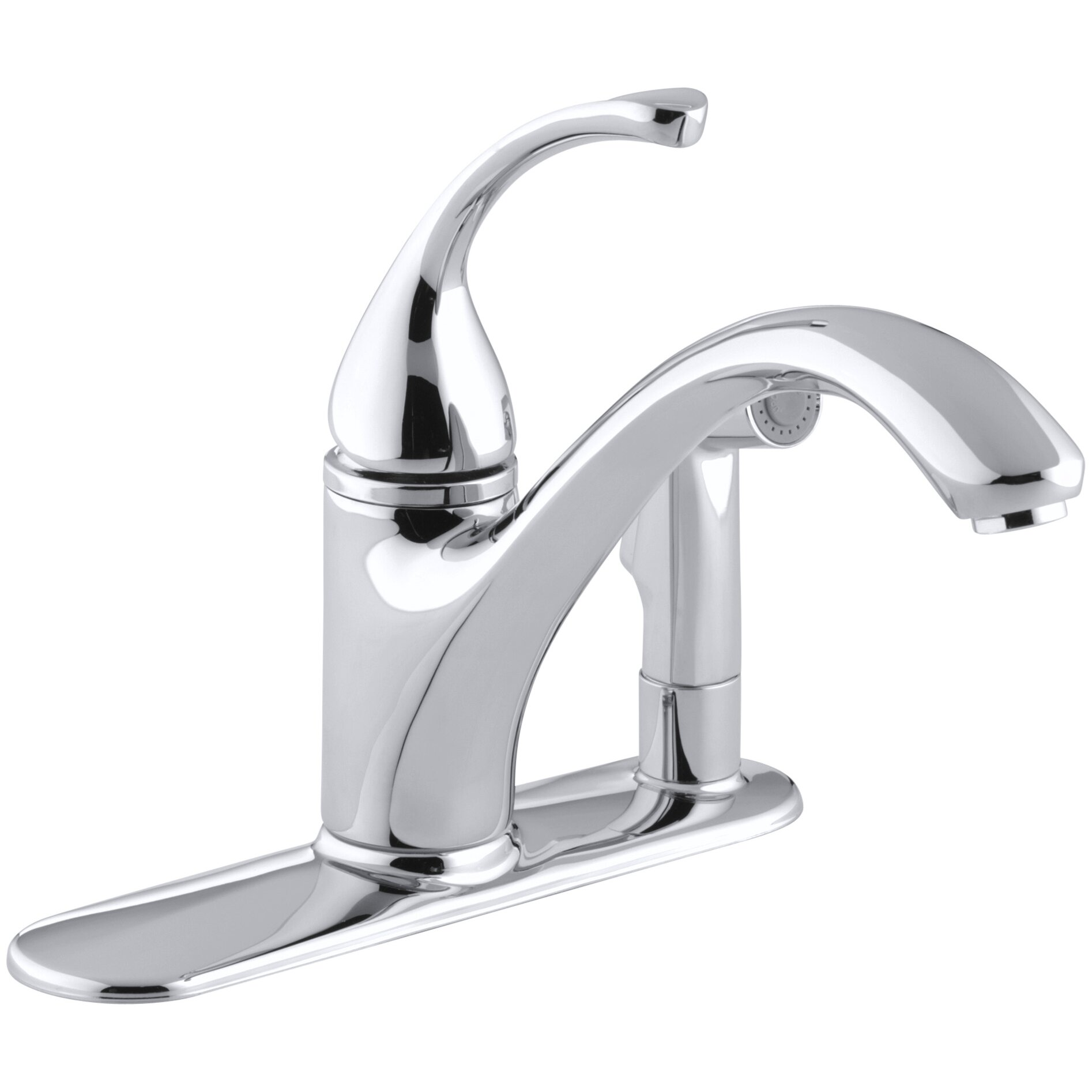 three hole kitchen faucets kohler fort 233 3 kitchen sink faucet with 9 1 16 quot spout 22272