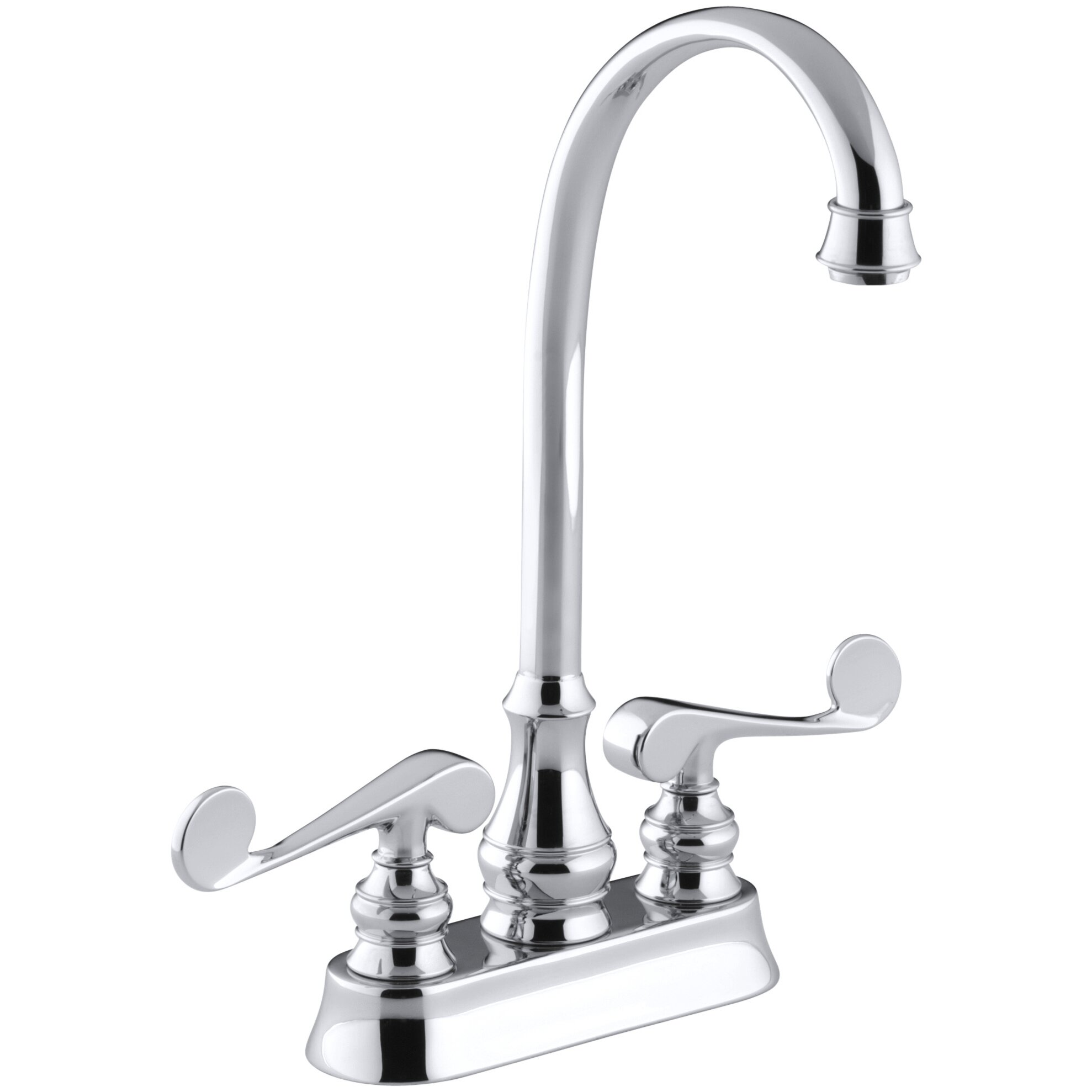 Kohler Revival Two-Hole Centerset Bar Sink Faucet with Scroll Lever ...