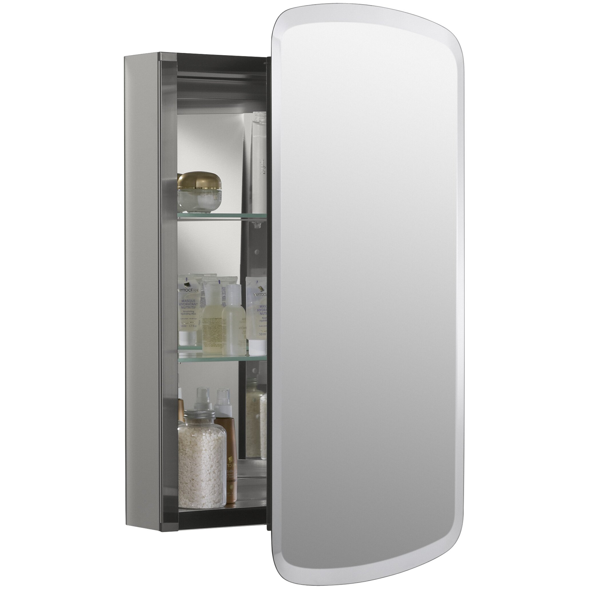 medicine cabinet door only kohler bancroft 20 quot w x 31 quot h aluminum single door 7418