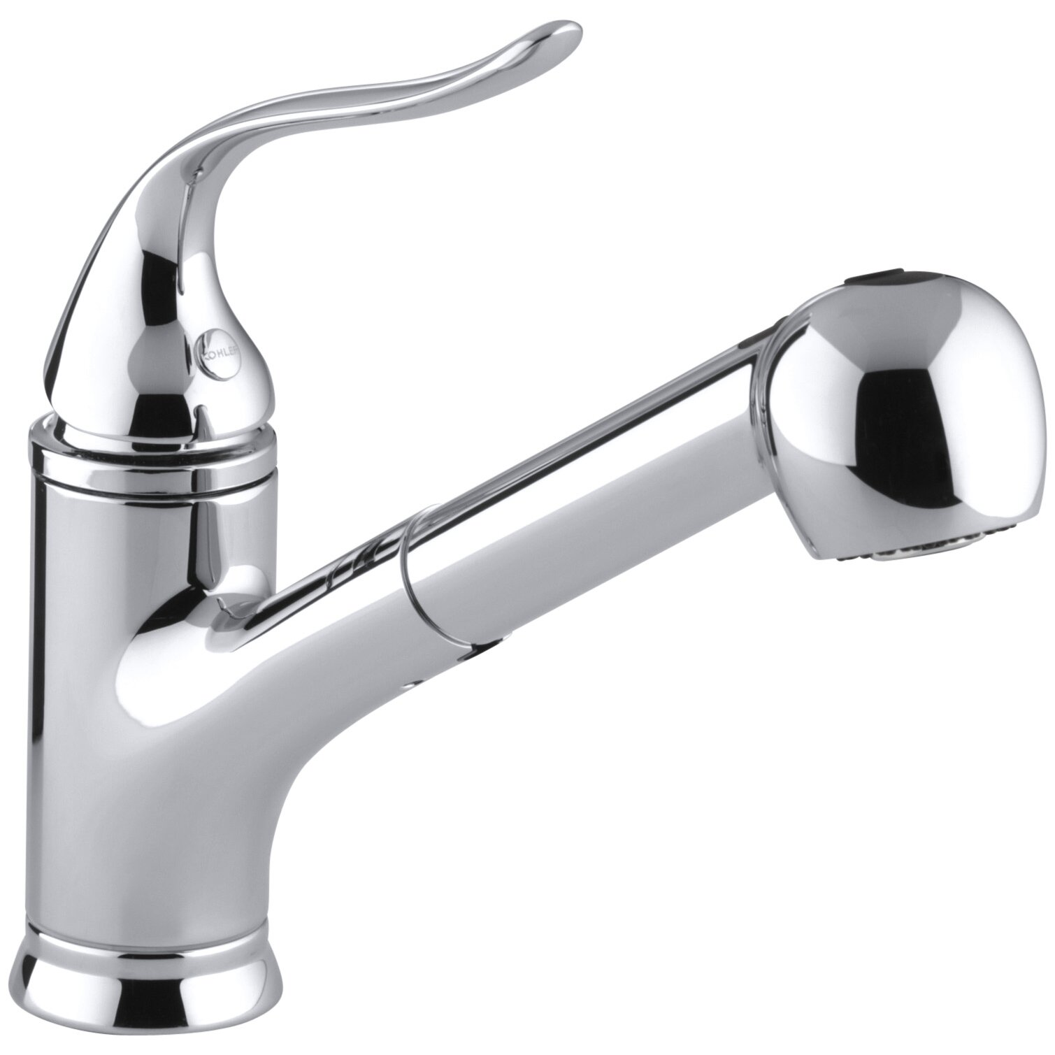 Kohler coralais single hole or three hole kitchen sink faucet with pullout matching color - Kohler kitchen sink colors ...