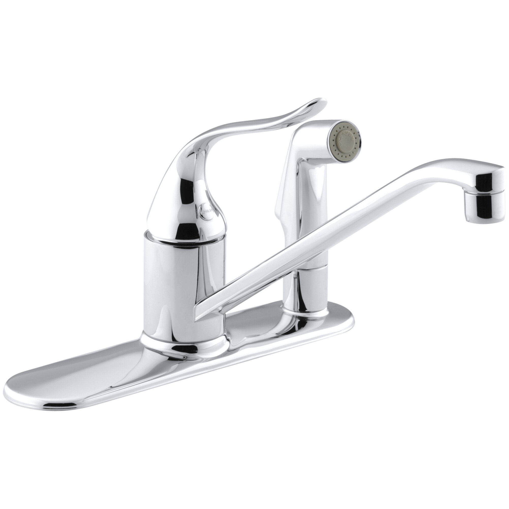Triple Sink Faucet : Coralais Three-Hole Kitchen Sink Faucet with 10