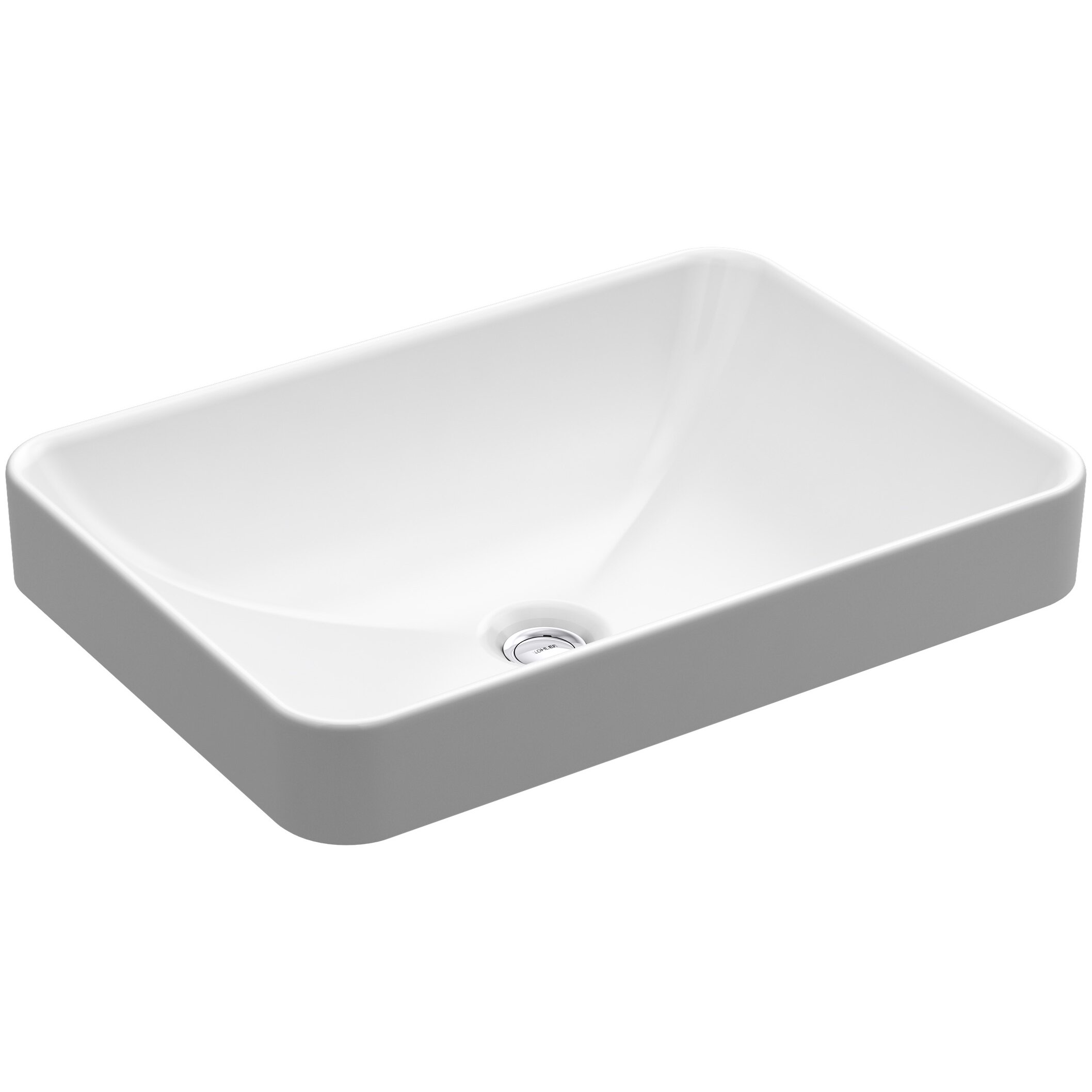 Kohler Vox Rectangle Vessel Above Counter Bathroom Sink In White Amp Reviews Wayfair
