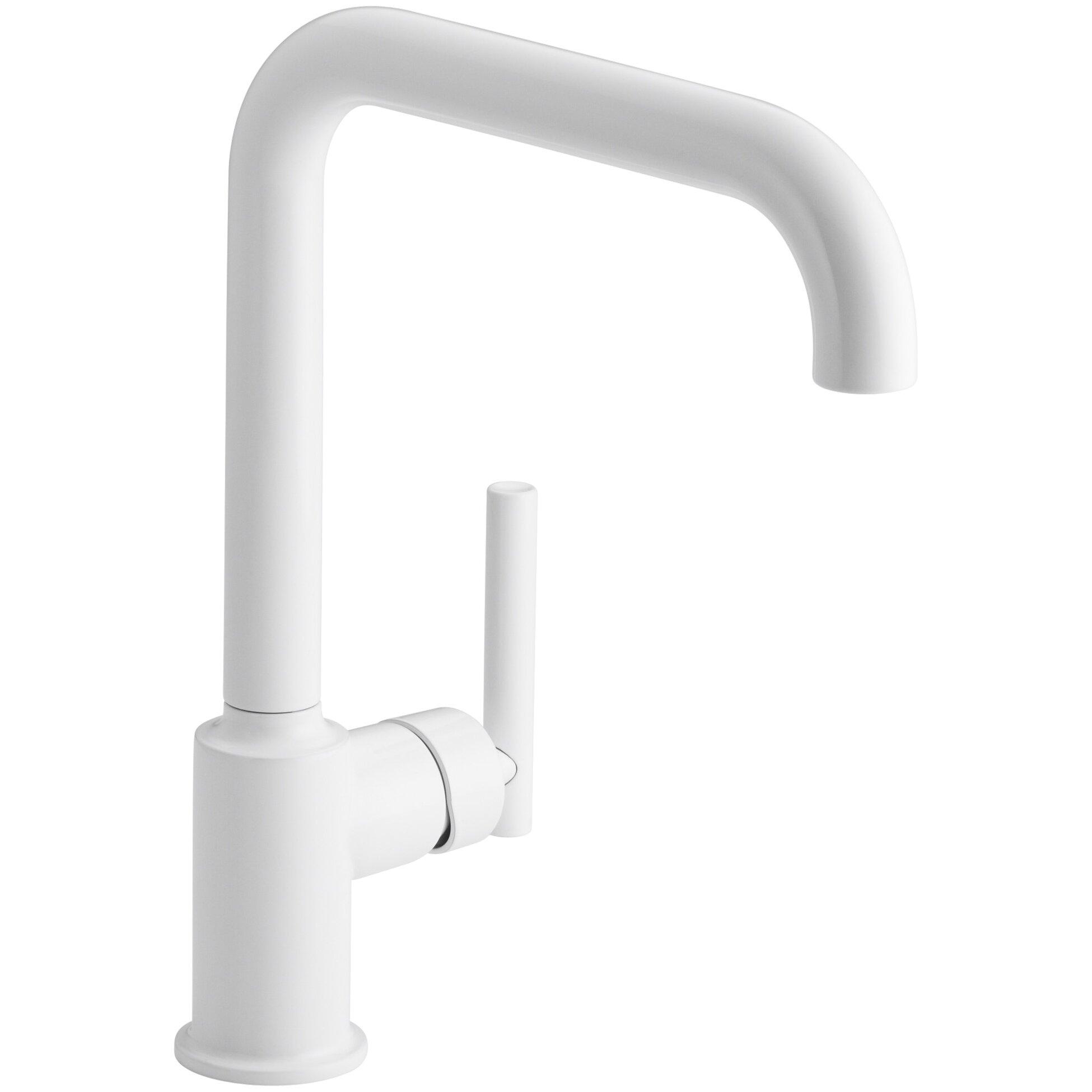 Kohler Purist Single Hole Kitchen Sink Faucet With 8 Spout Reviews Wayfair