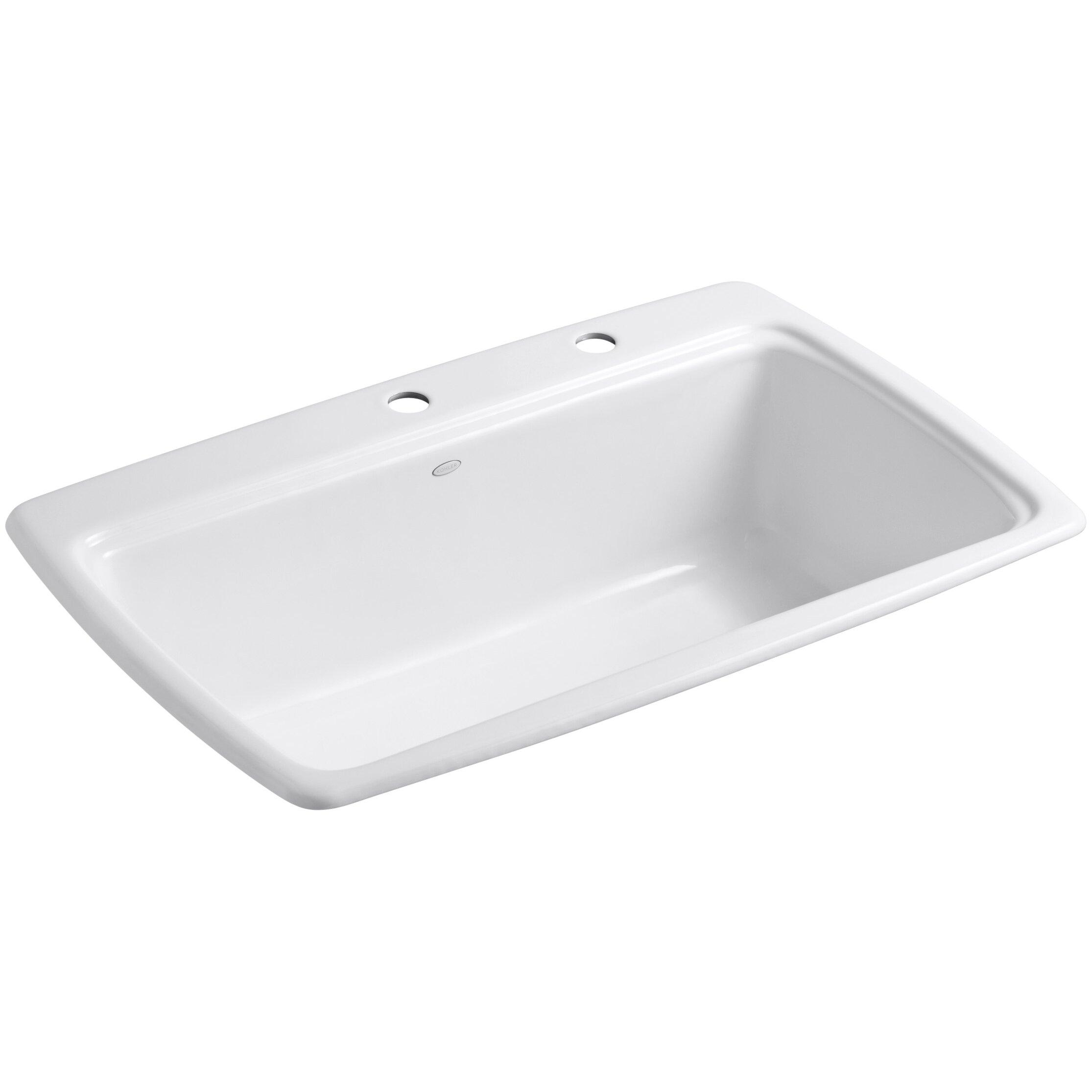Kohler K  Self Rimming Single Bowl Kitchen Sink
