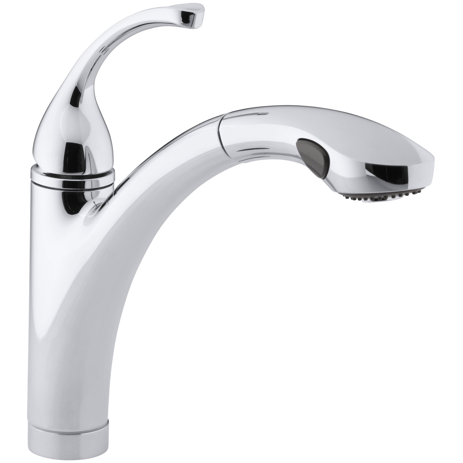 kitchen faucet single hole kohler fort 233 single or 3 kitchen sink faucet 19528