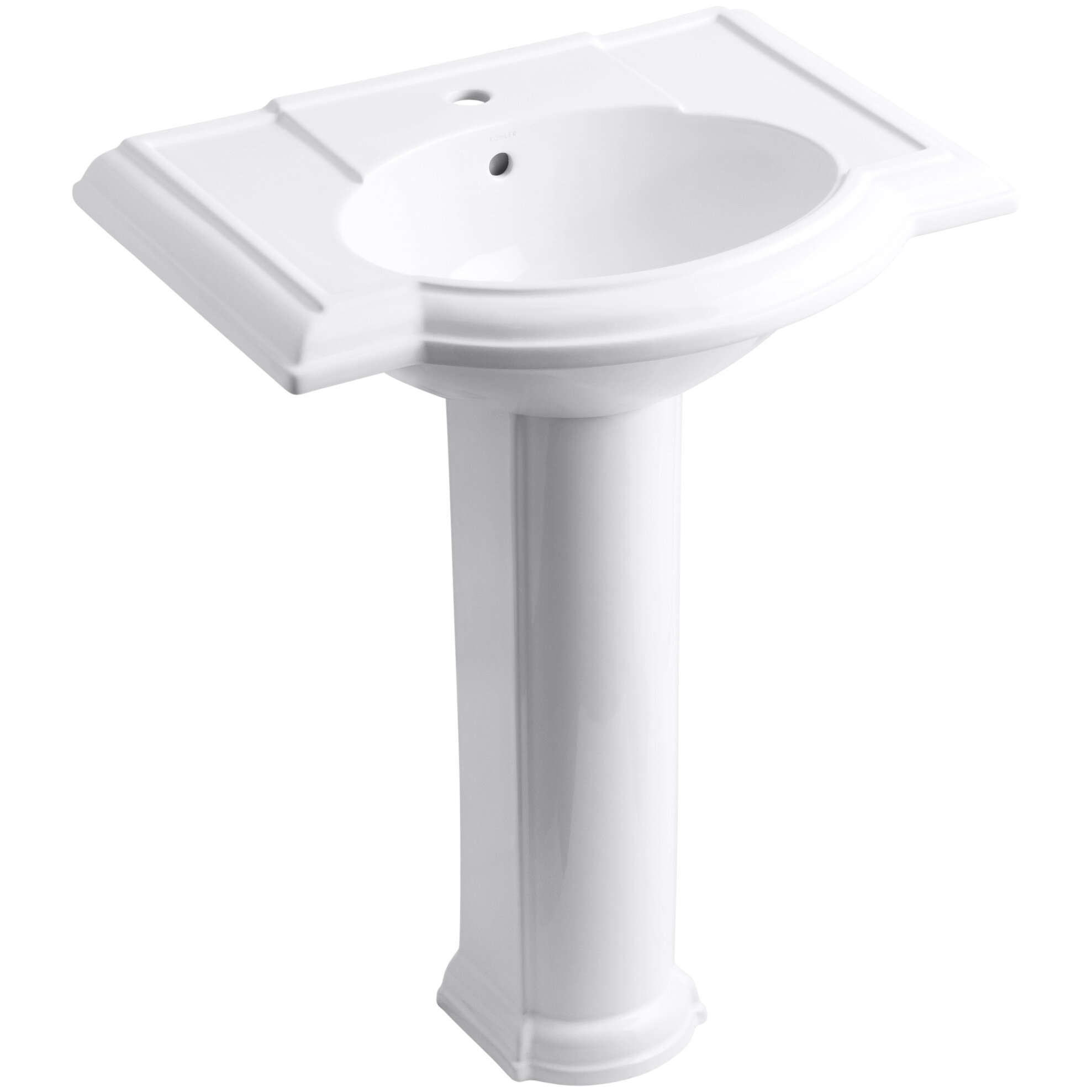 Kohler devonshire 27 pedestal bathroom sink reviews wayfair - Kohler devonshire reviews ...