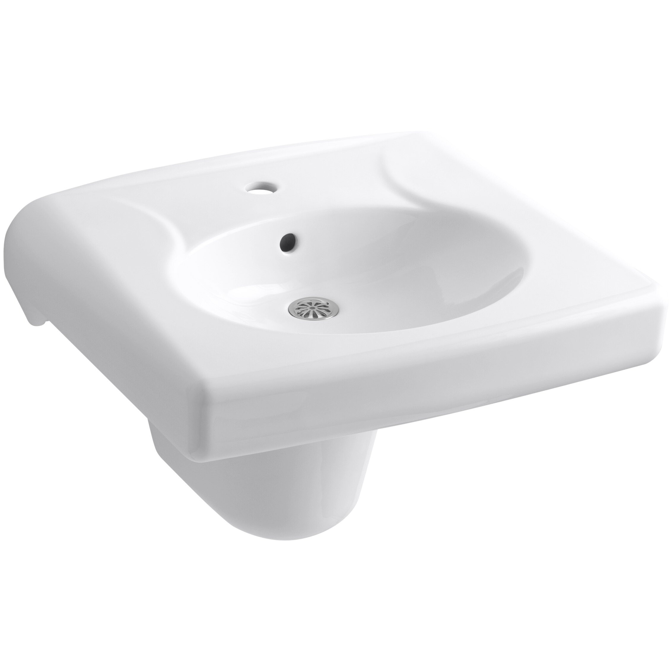 Kohler Brenham Wall Mounted Or Concealed Carrier Arm Mounted Commercial Bathroom Sink Wayfair