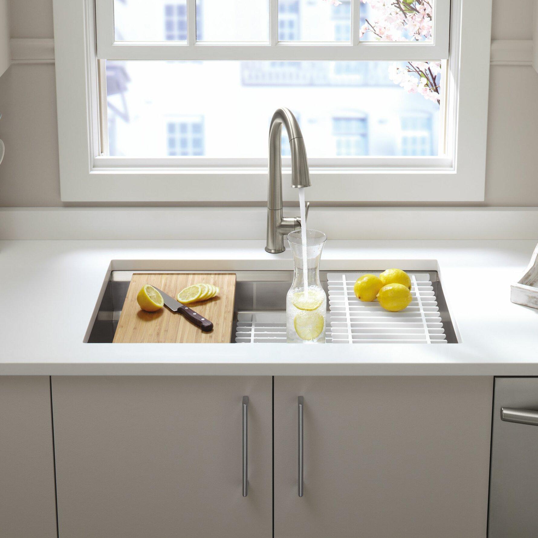 Kohler prolific 33 x 17 3 4 x 11 undermount single bowl - Kitchen sink pieces ...