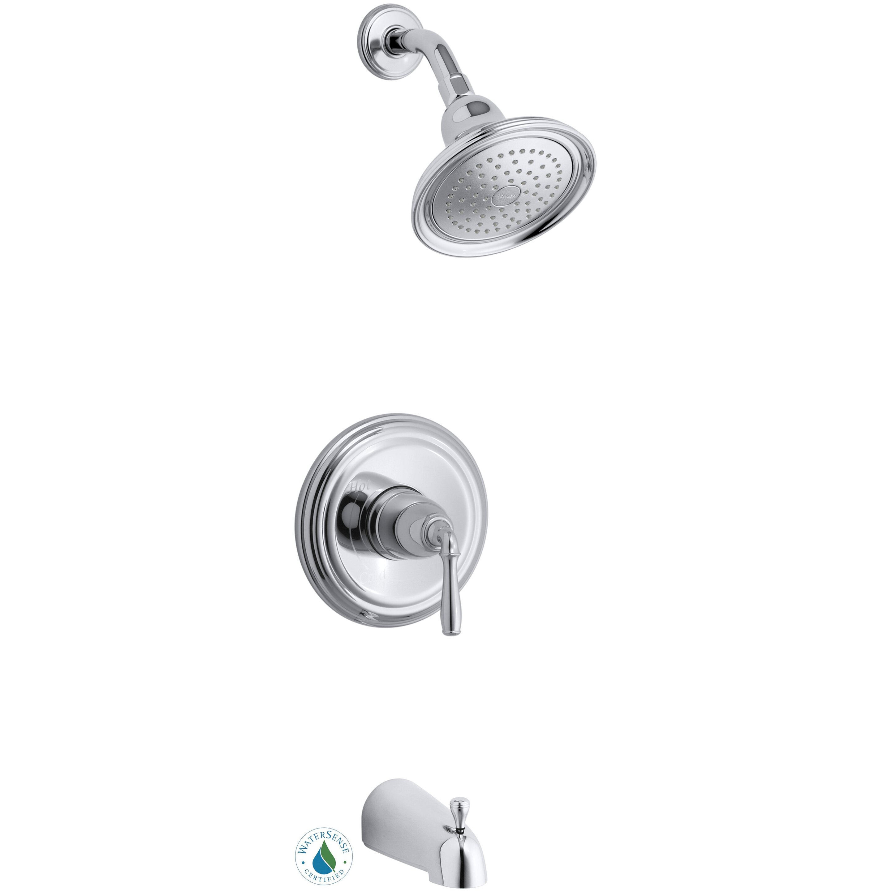 kohler devonshire rite temp pressure balancing bath and shower faucet trim valve not included. Black Bedroom Furniture Sets. Home Design Ideas