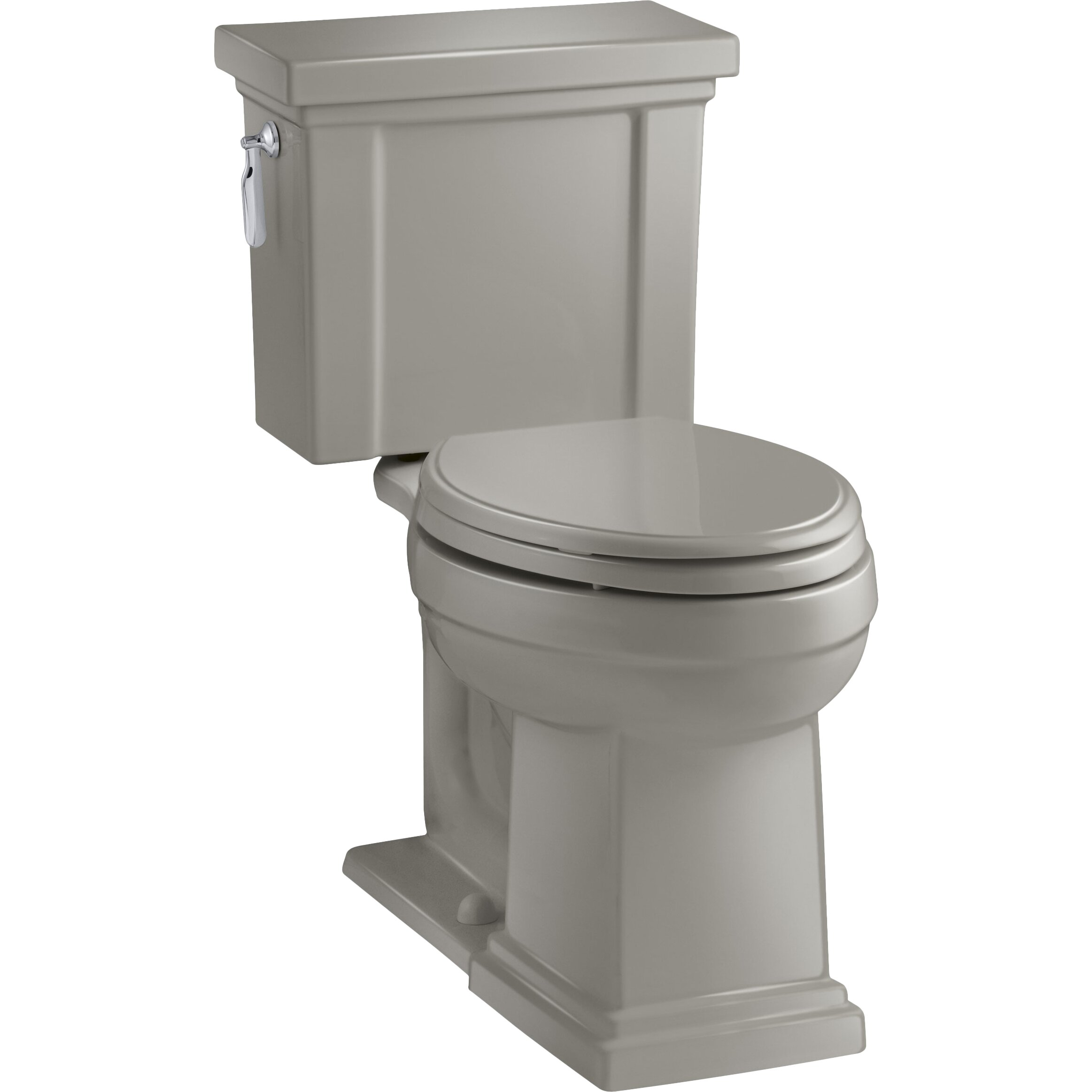 Kohler Tresham Comfort Height 2 Piece Elongated 128 GPF  : Kohler Tresham Comfort Height 2 Piece Elongated 128 GPF Toilet with Aquapiston Flush Technology and Left Hand Trip Lever from www.wayfair.com size 2325 x 2325 jpeg 211kB