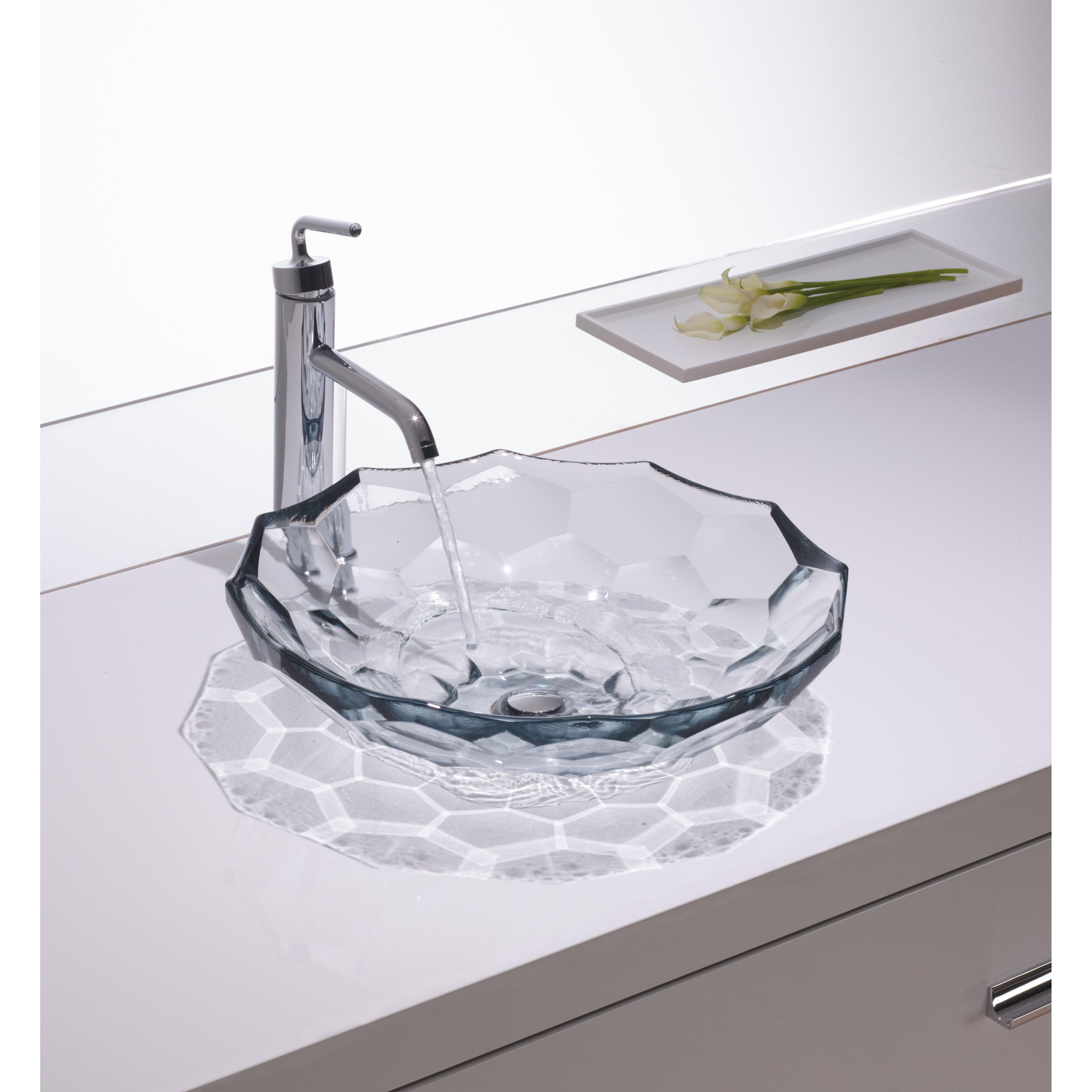kohler briolette vessel faceted glass bathroom sink reviews