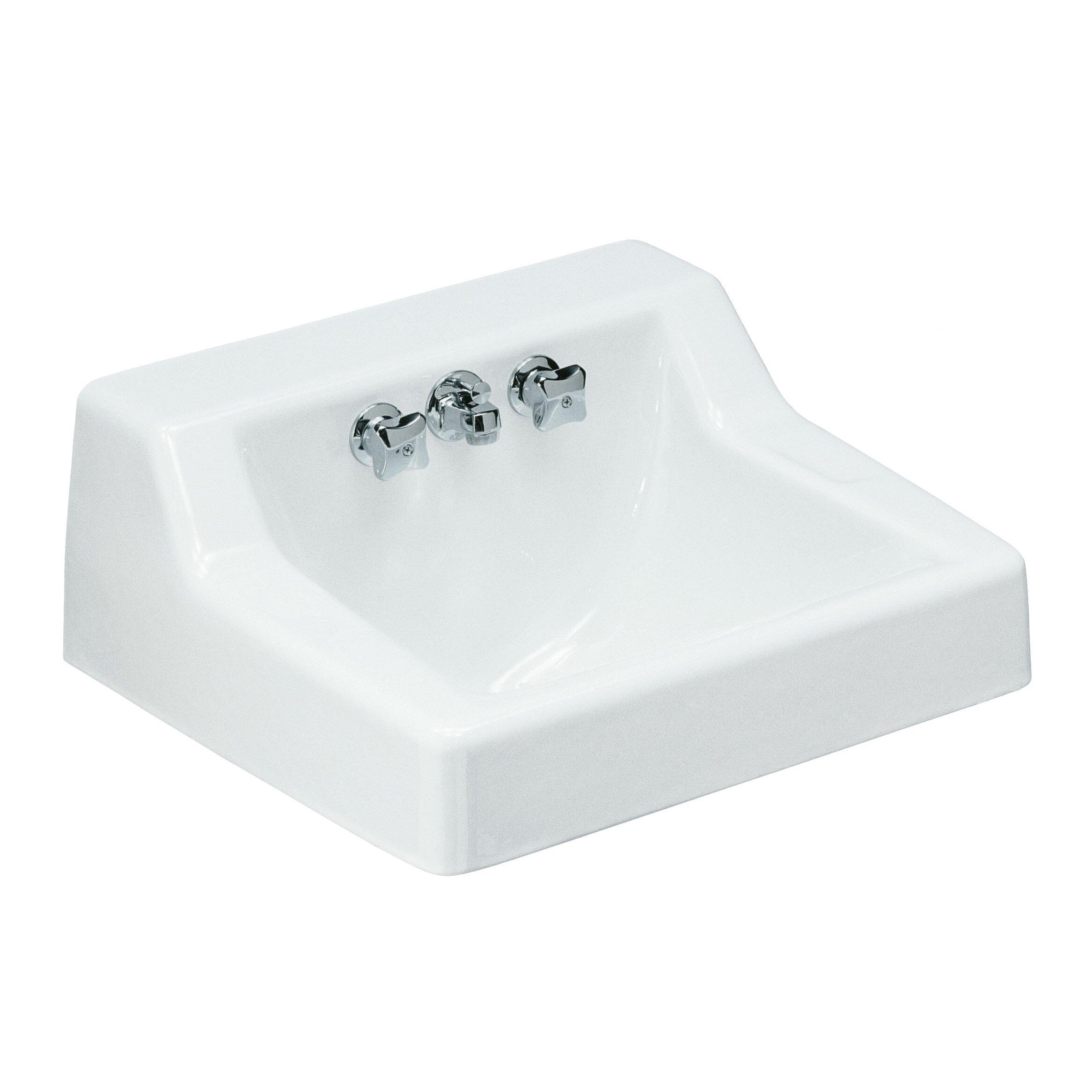 Kohler hampton wall mounted commercial bathroom sink with - Kohler wall mount bathroom sink faucet ...