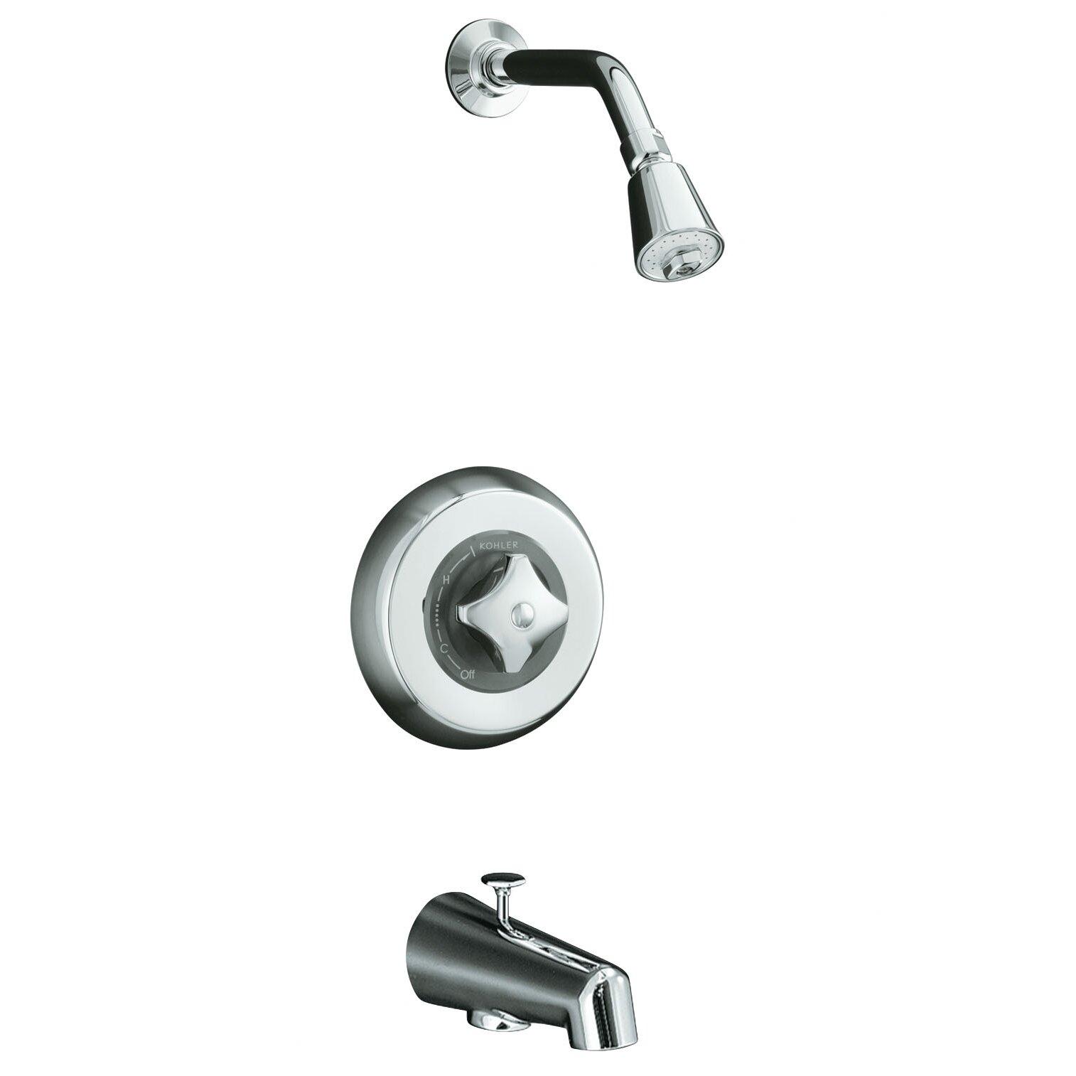 Kohler Triton Bath/Shower Trim Set with Shower Head, Arm
