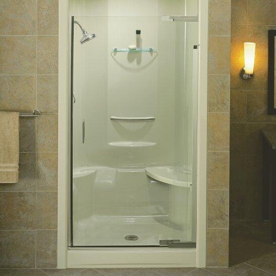 Kohler purist 72 x 42 pivot shower door reviews wayfair for 1200 pivot shower door