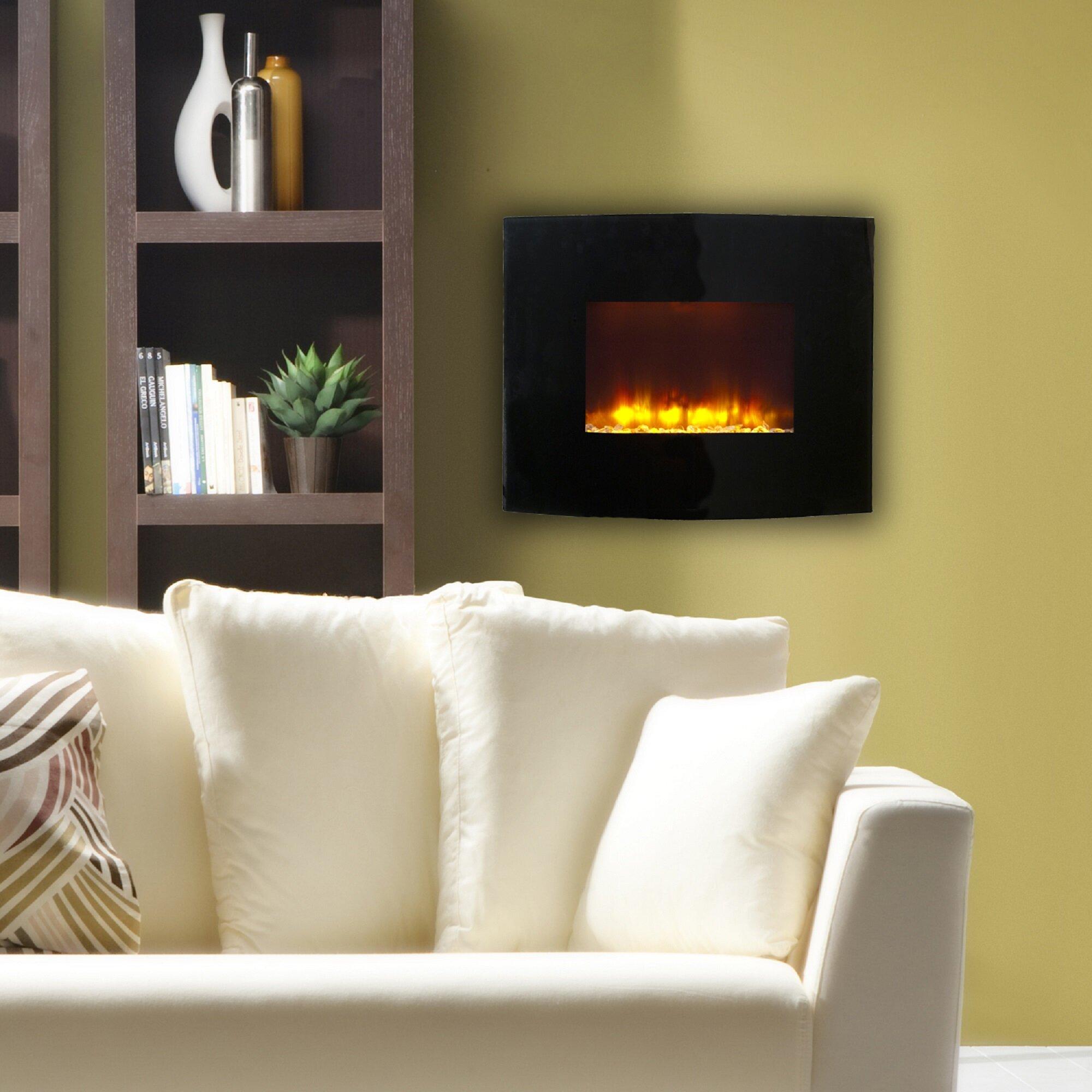 Estate Designs Flat Panel Wall Mount Electric Fireplace