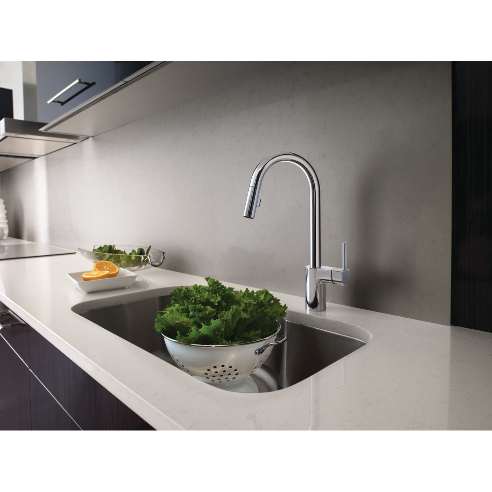 moen align single handle kitchen faucet reviews wayfair