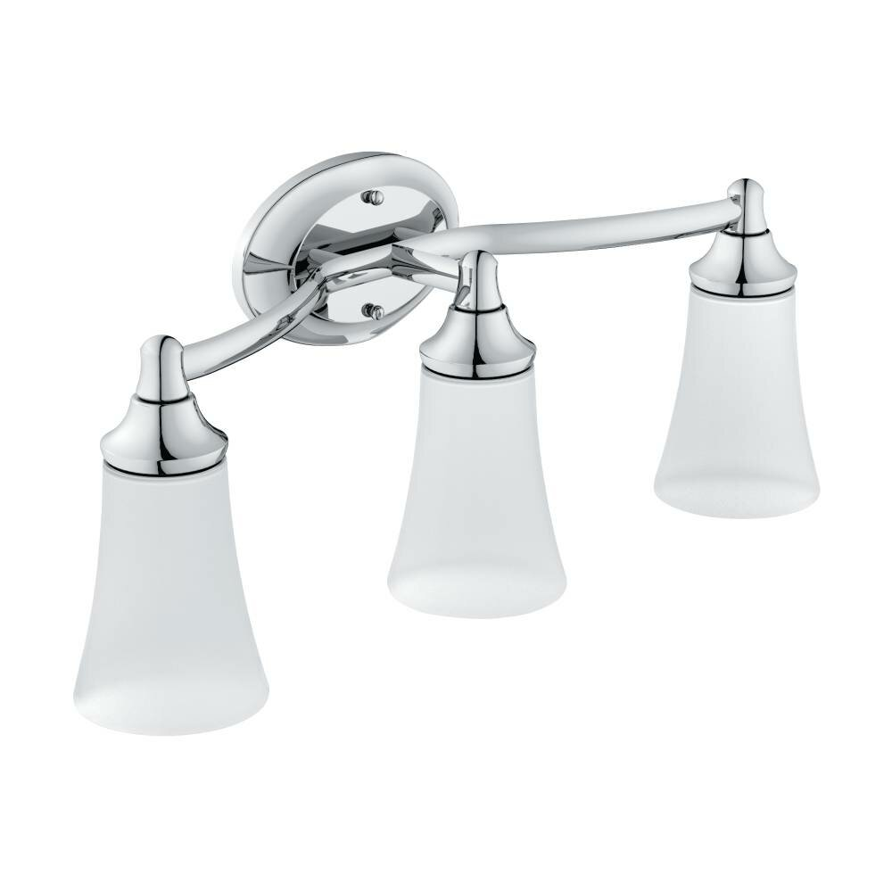 Moen Eva 3 Light Bath Vanity Light Reviews Wayfair