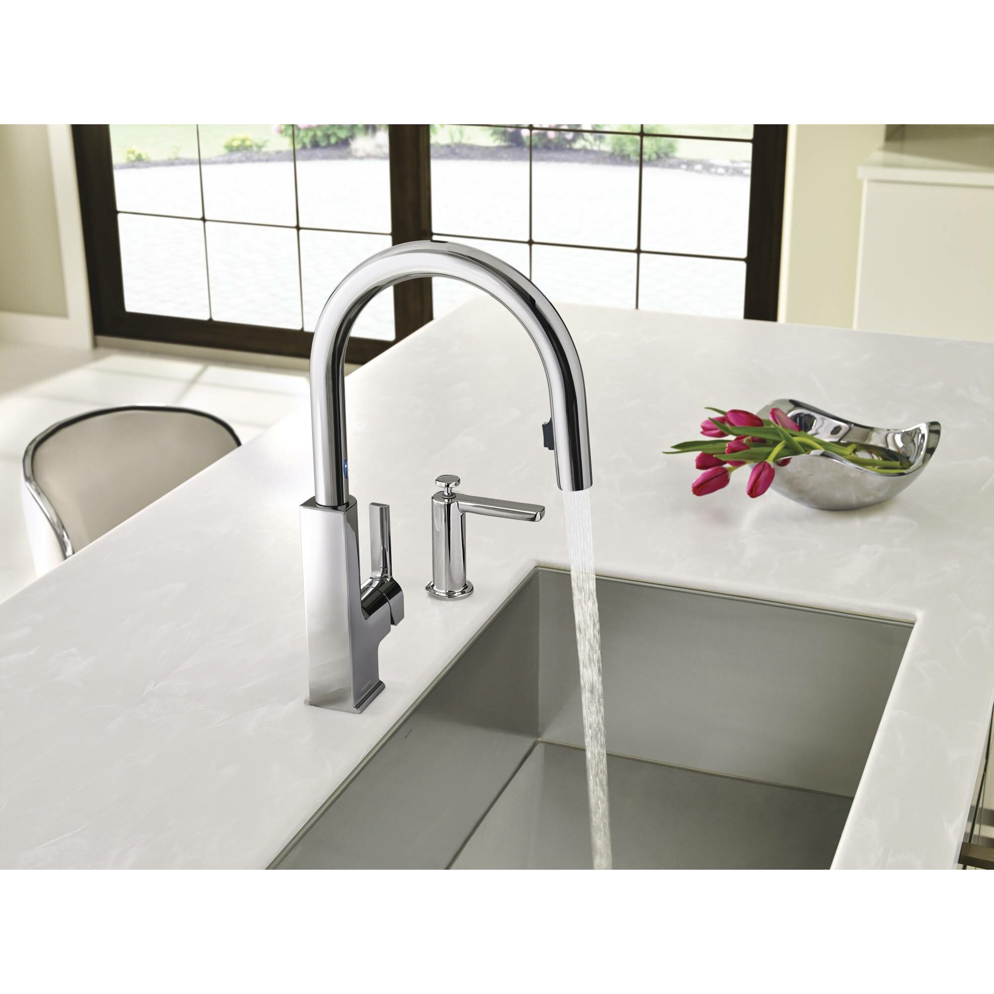 moen sto single handle kitchen faucet with motionsense