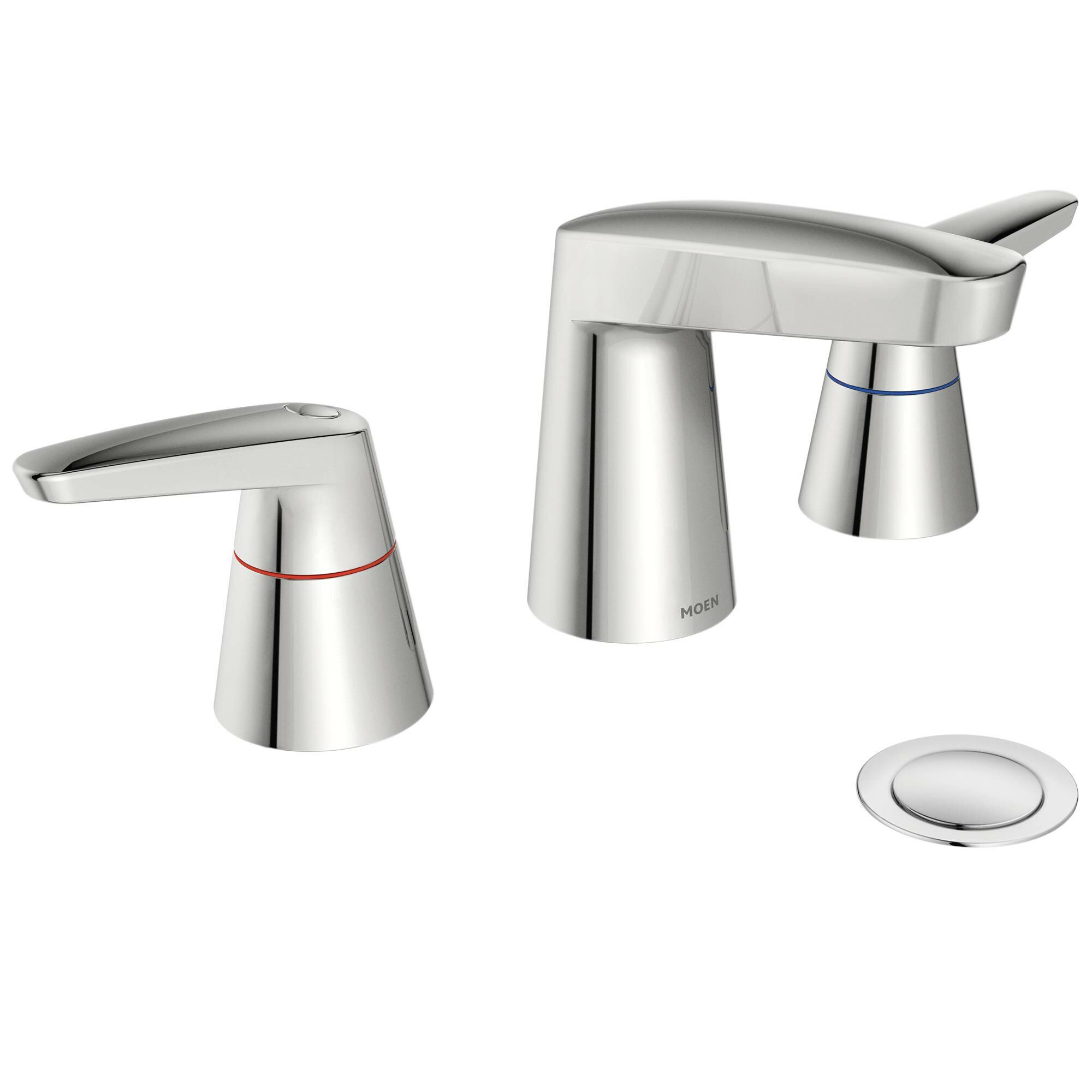 Moen M Dura Double Handle Widespread Bathroom Faucet Wayfair