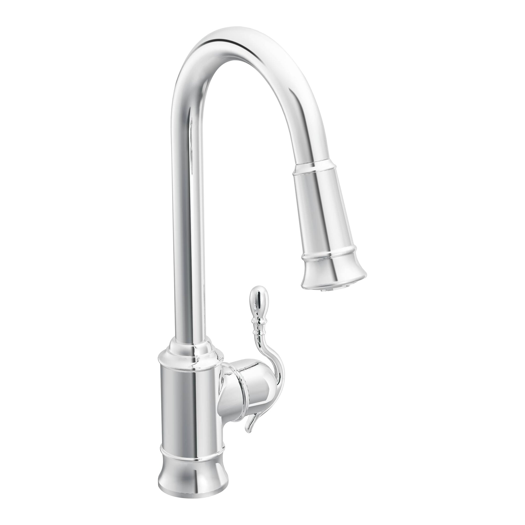Moen Woodmere Single Handle Single Hole Kitchen Faucet
