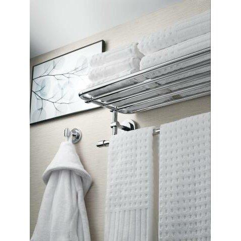 moen iso wall mounted towel shelf reviews wayfair. Black Bedroom Furniture Sets. Home Design Ideas
