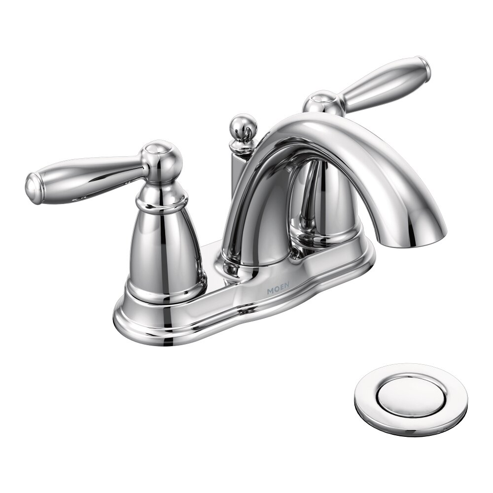 Moen brantford two handle centerset bathroom faucet reviews wayfair - Moen shower faucet ...