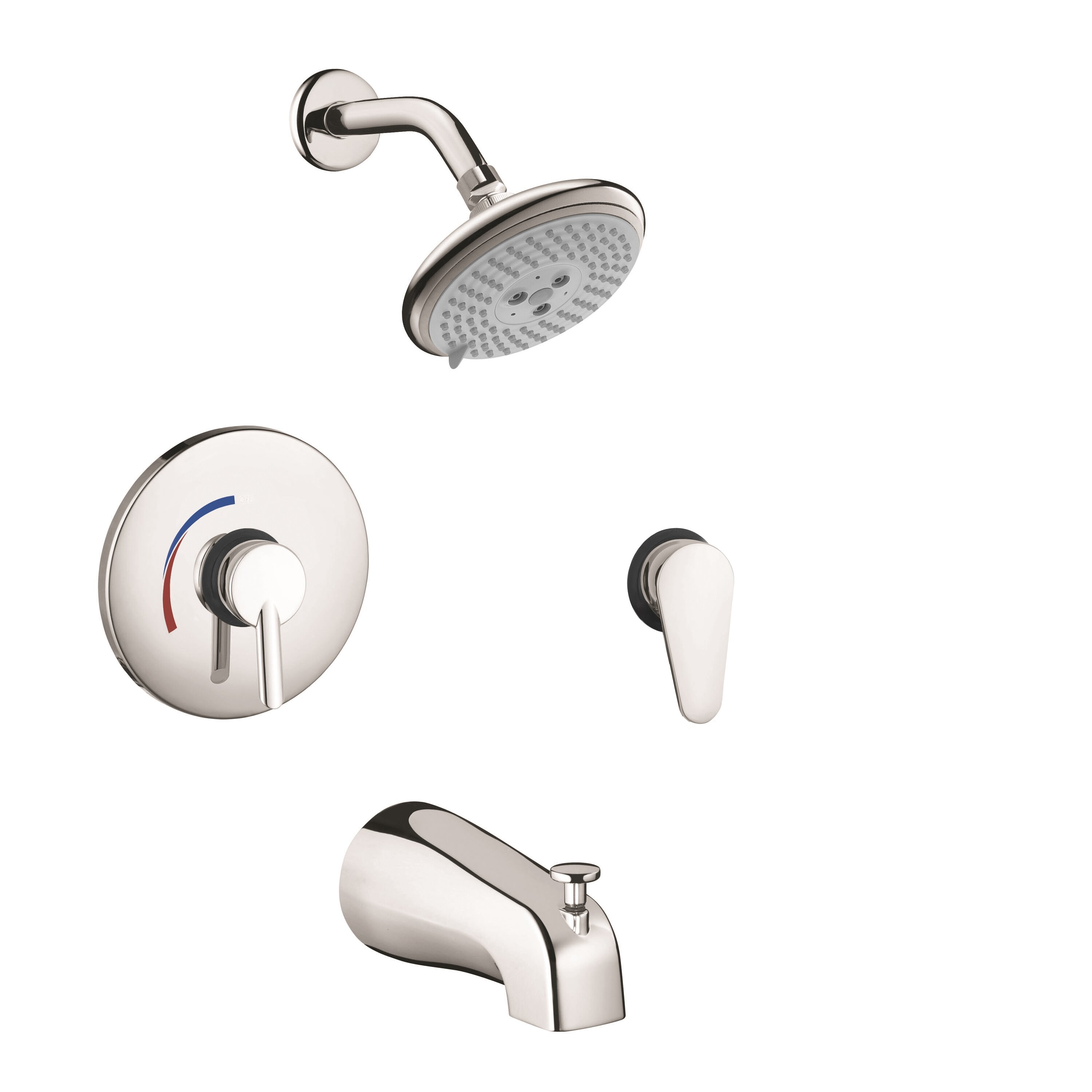 Hansgrohe focus s hg pressure balance tub and shower - Hansgrohe shower handle ...