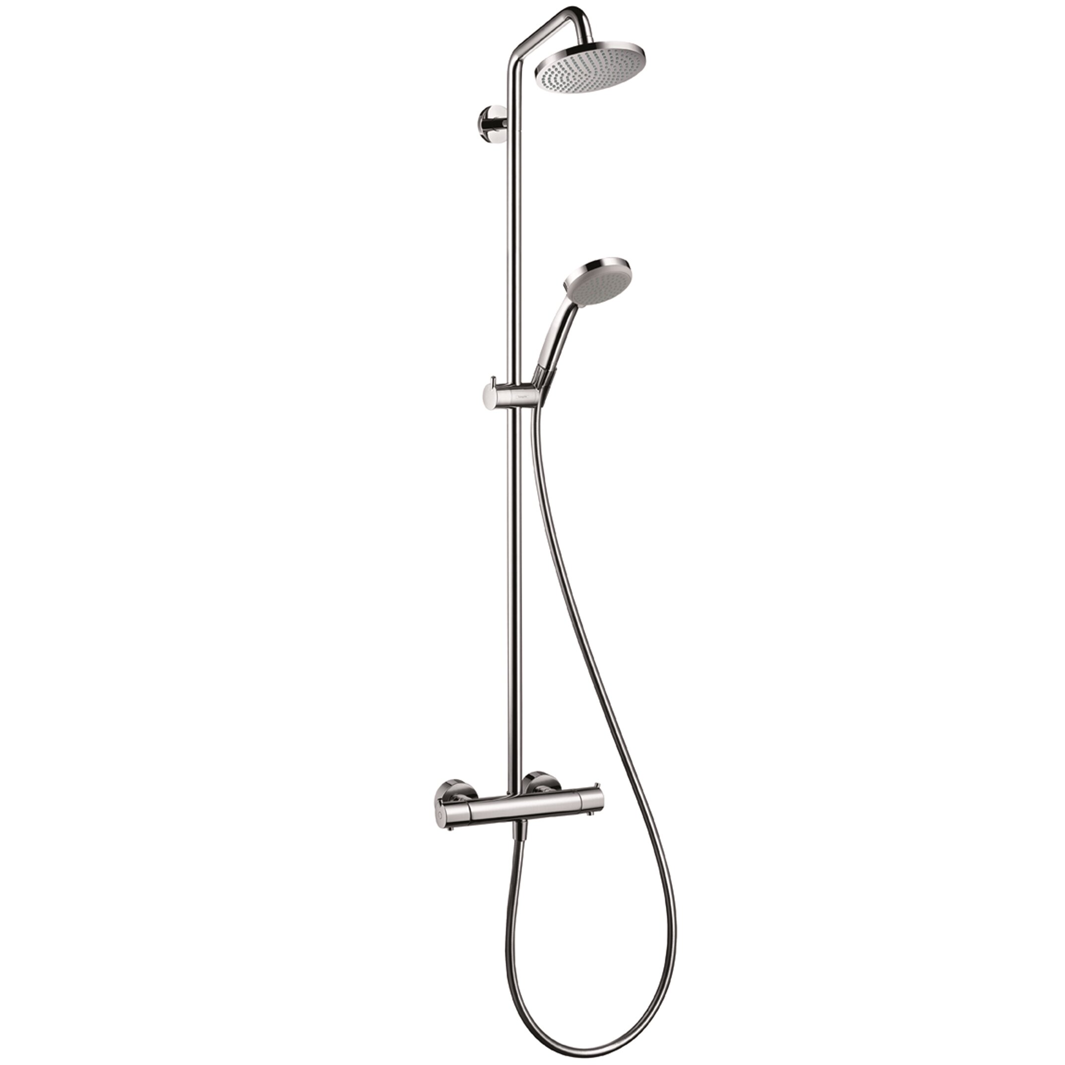 hansgrohe croma complete shower system reviews wayfair. Black Bedroom Furniture Sets. Home Design Ideas