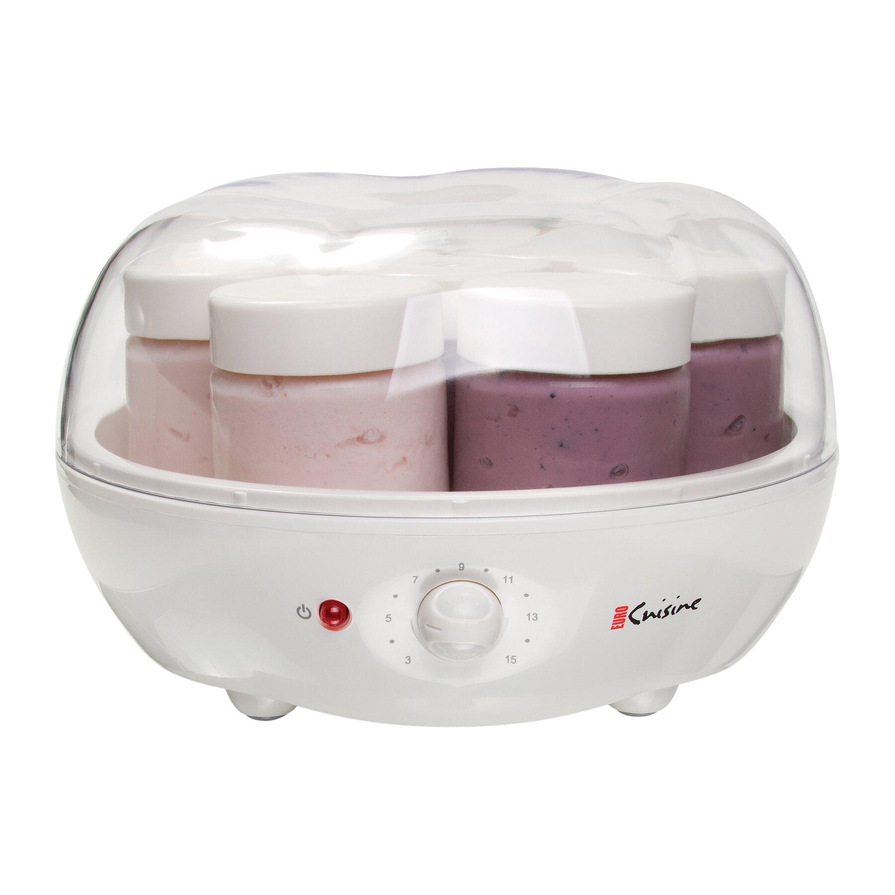Euro cuisine automatic yogurt maker reviews wayfair for Cuisine yogurt maker recipe