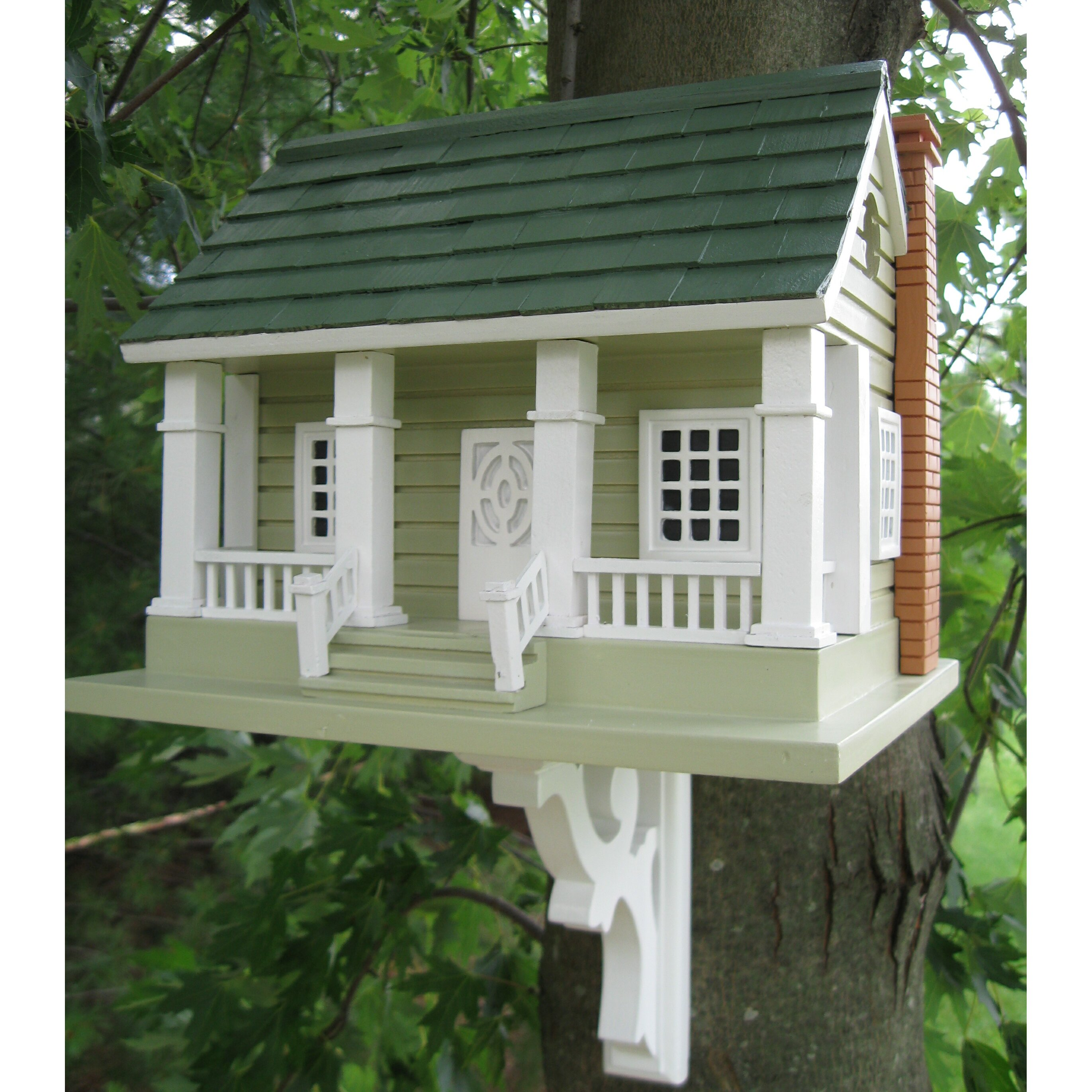 Home bazaar classic series arts and crafts birdhouse for Classic homes reviews