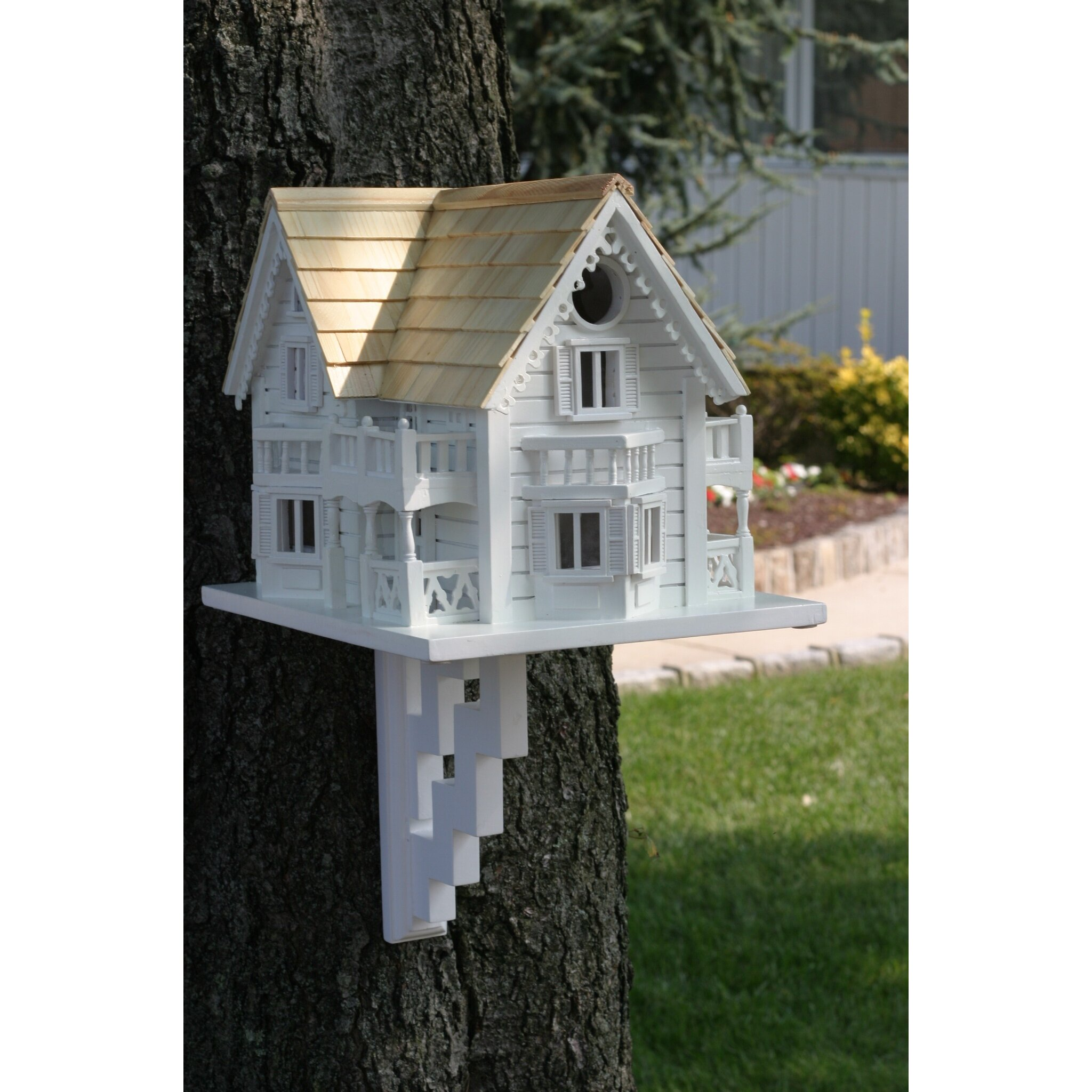 Home bazaar classic series sleepy hollow cottage birdhouse for Classic homes reviews