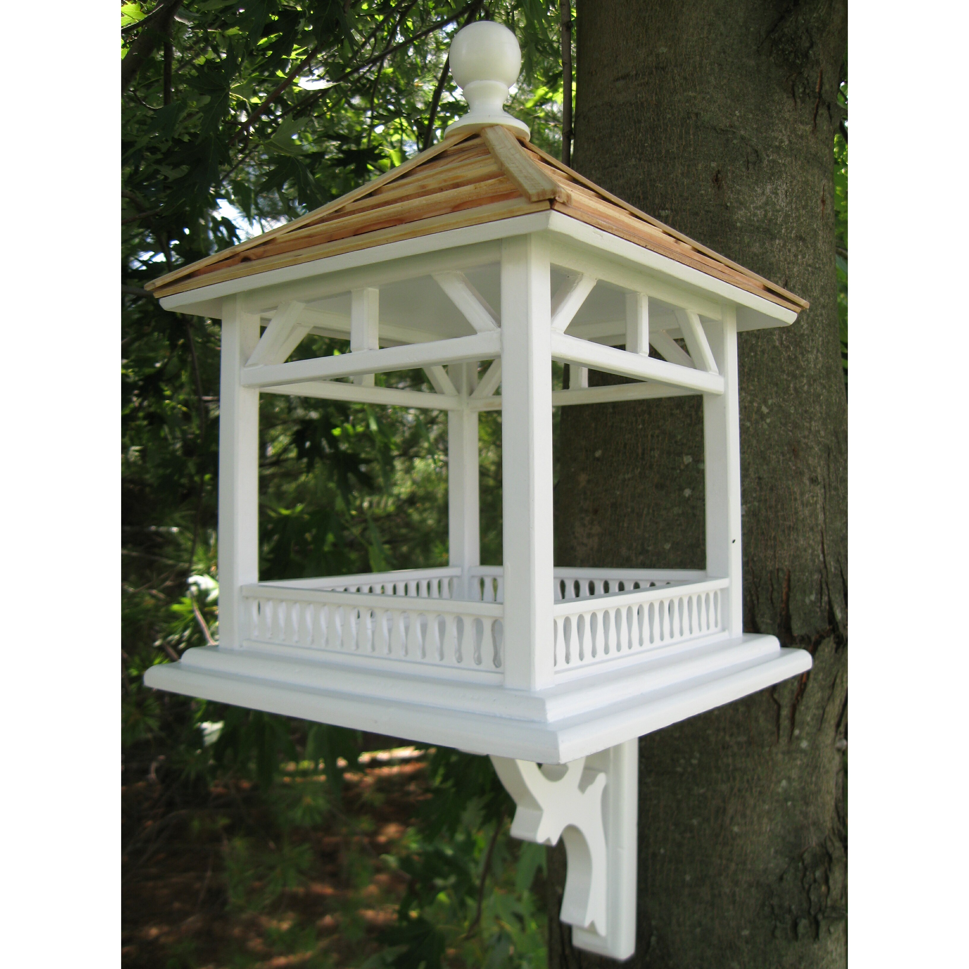 Home bazaar classic series dream house gazebo bird feeder for Classic homes reviews
