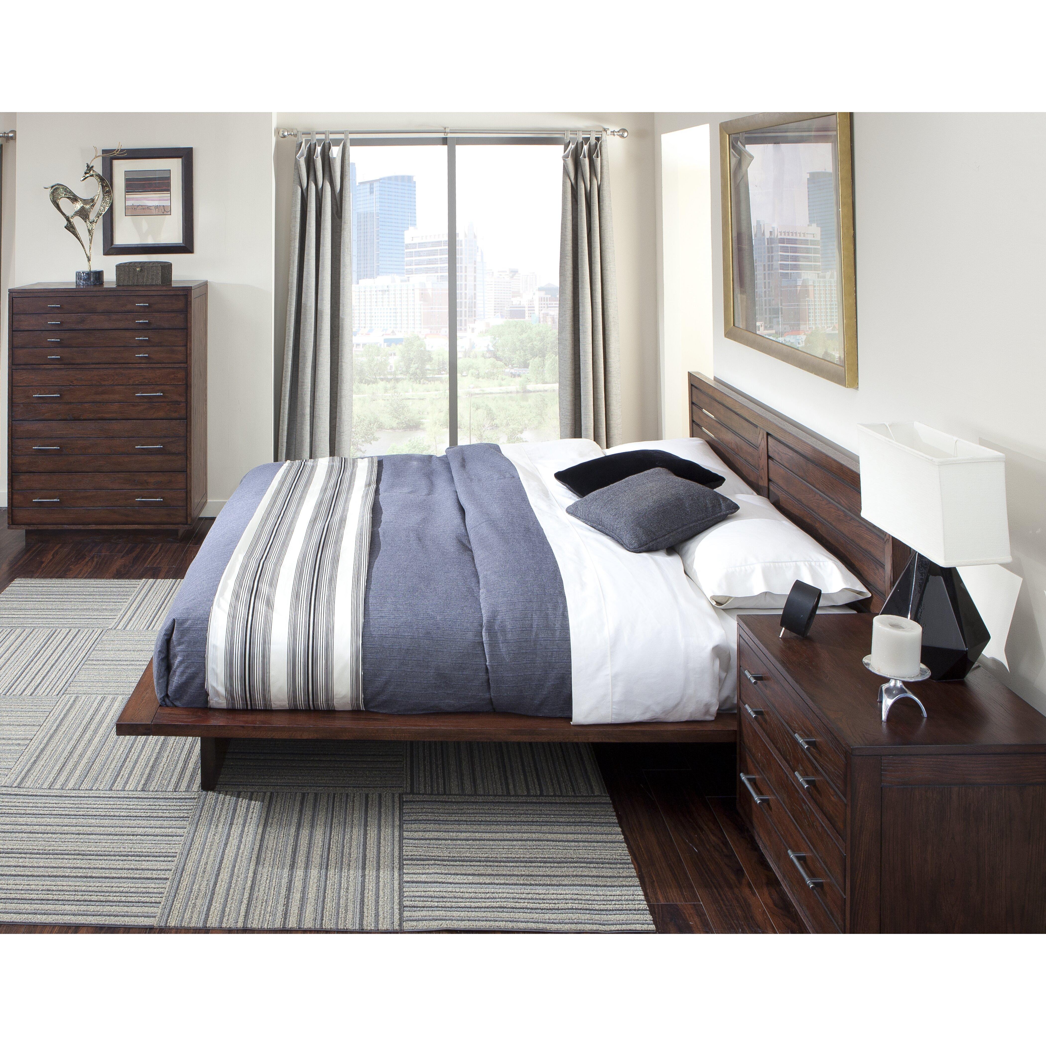 cresent furniture hudson platform customizable bedroom set