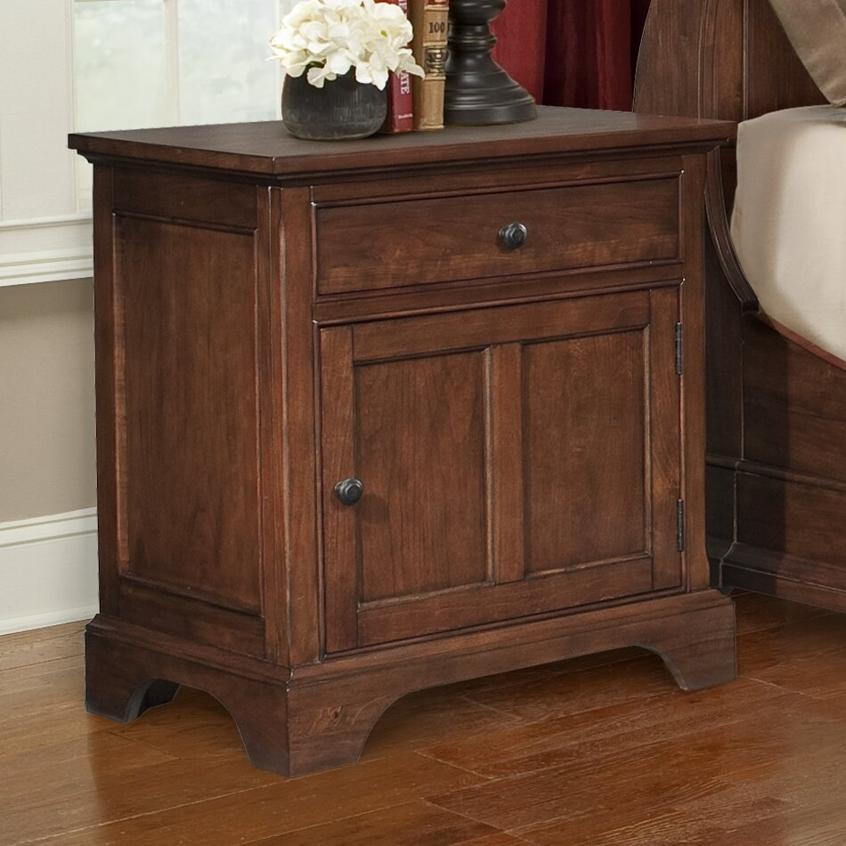 Cresent Furniture Retreat Cherry 1 Drawer Nightstand Reviews Wayfair