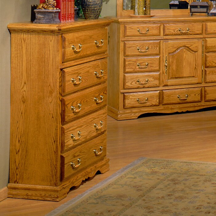 Bebe Furniture Country Heirloom 5 Drawer Chest & Reviews