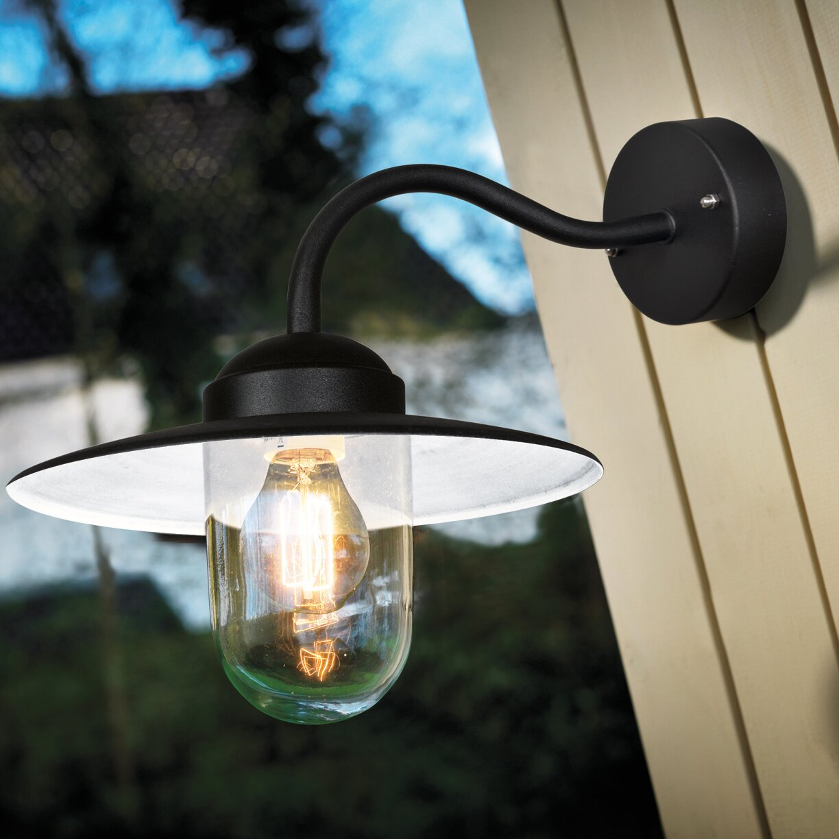 Luxembourg Wall Light With Pir : Nordlux Luxembourg 1 Light Outdoor Fisherman Light & Reviews Wayfair UK