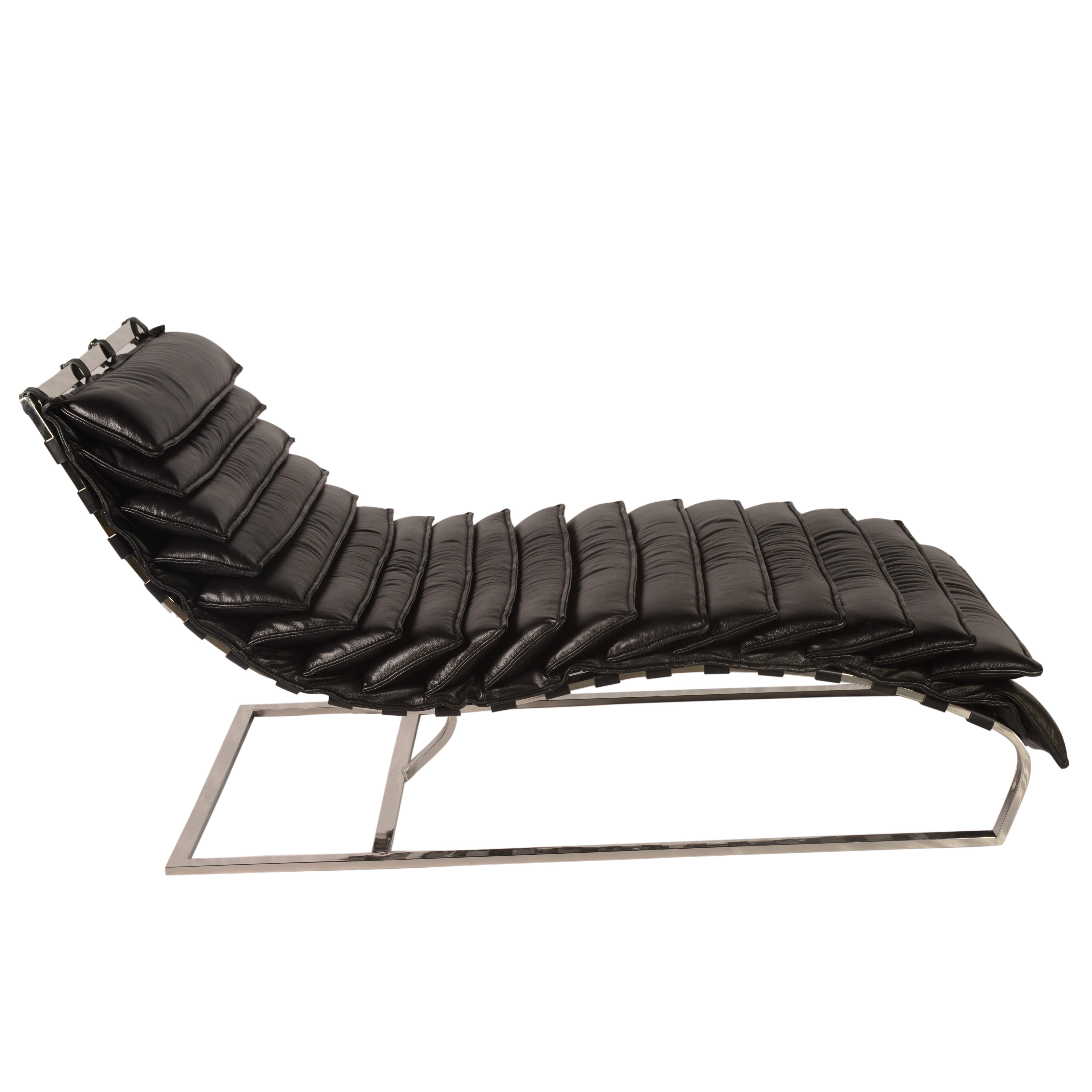 Lazzaro leather kuznet leather chaise lounge for Chaise leather lounge